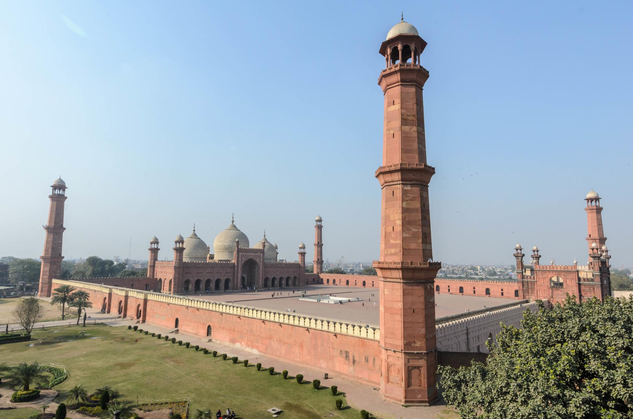 Die Badshahi Moschee in Lahore ist das schönste Bauwerk des Landes