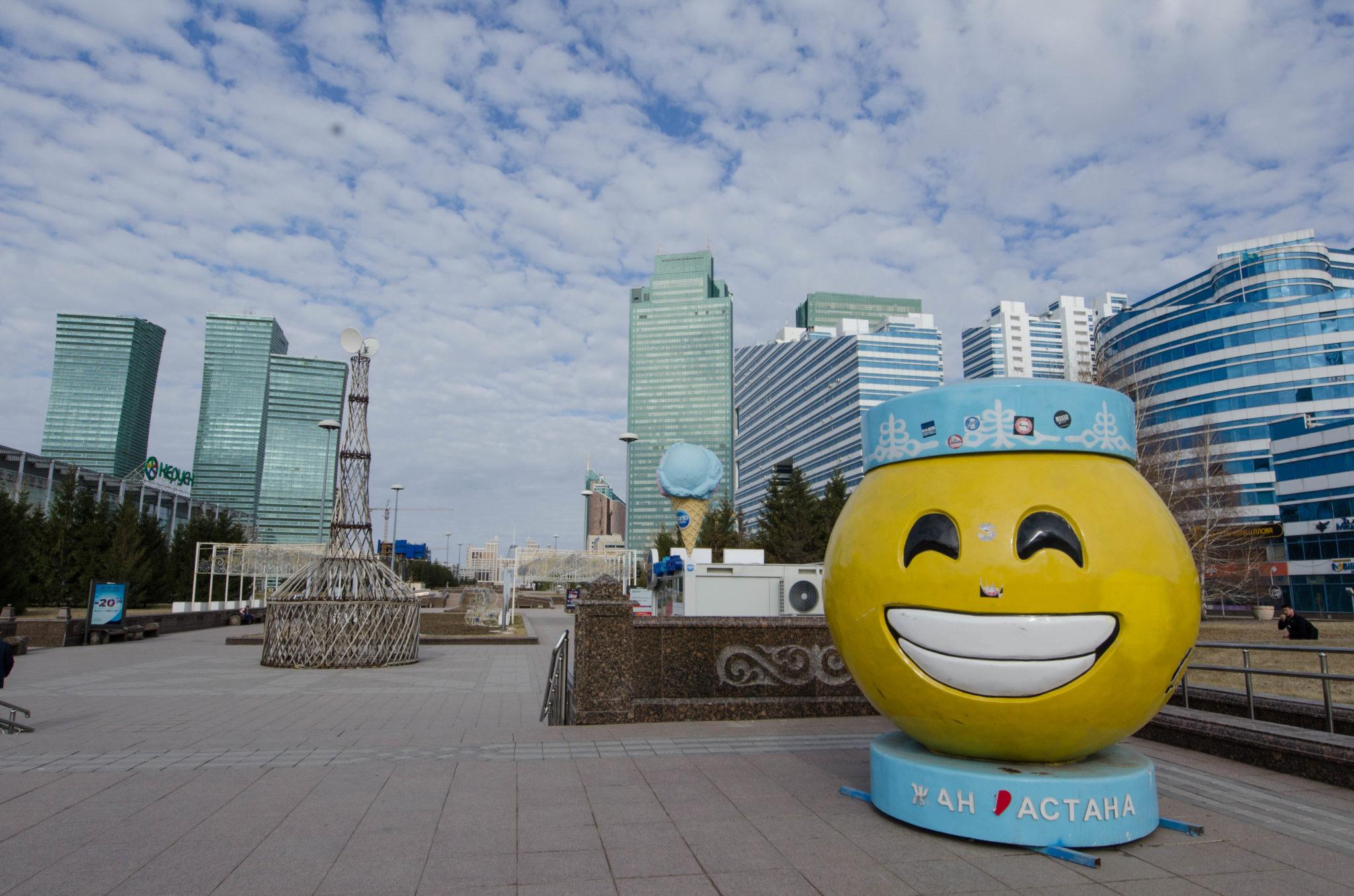 Die Innenstadt von Astana ist super modern
