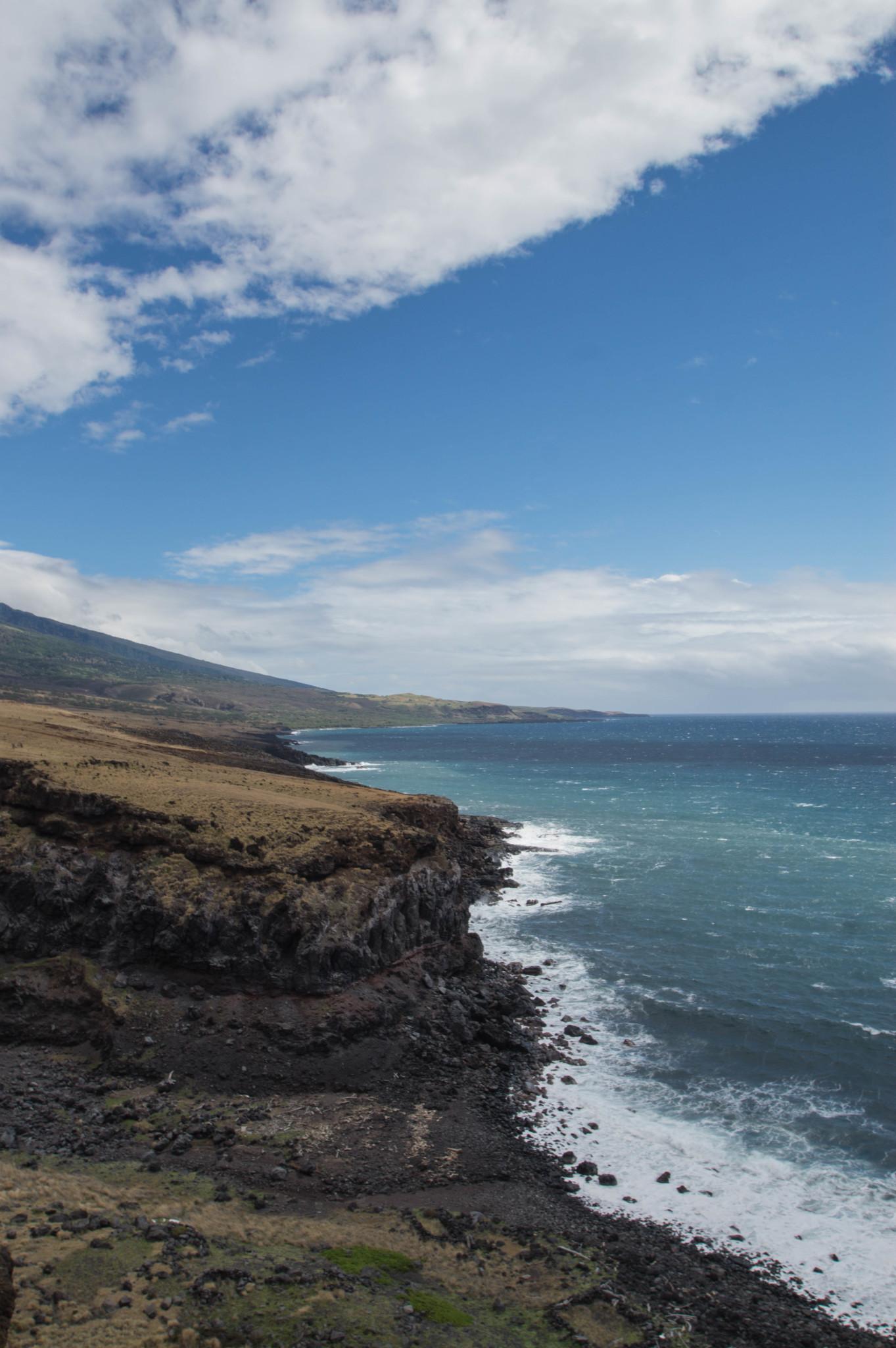 Ausblick aus dem Mietwagen auf Hawaii
