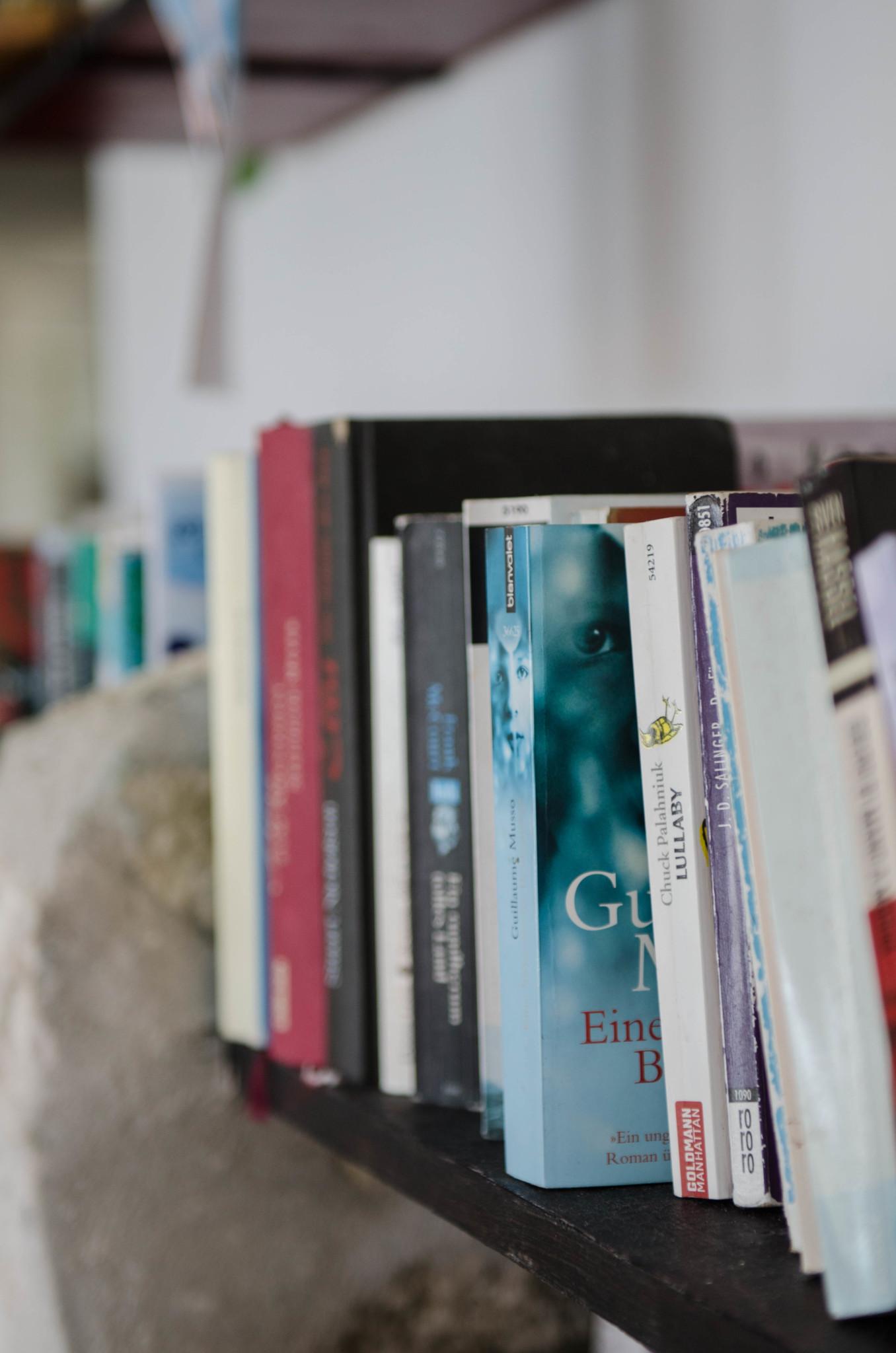 Bücher im Greenwood Beach Hotel auf Cat Island