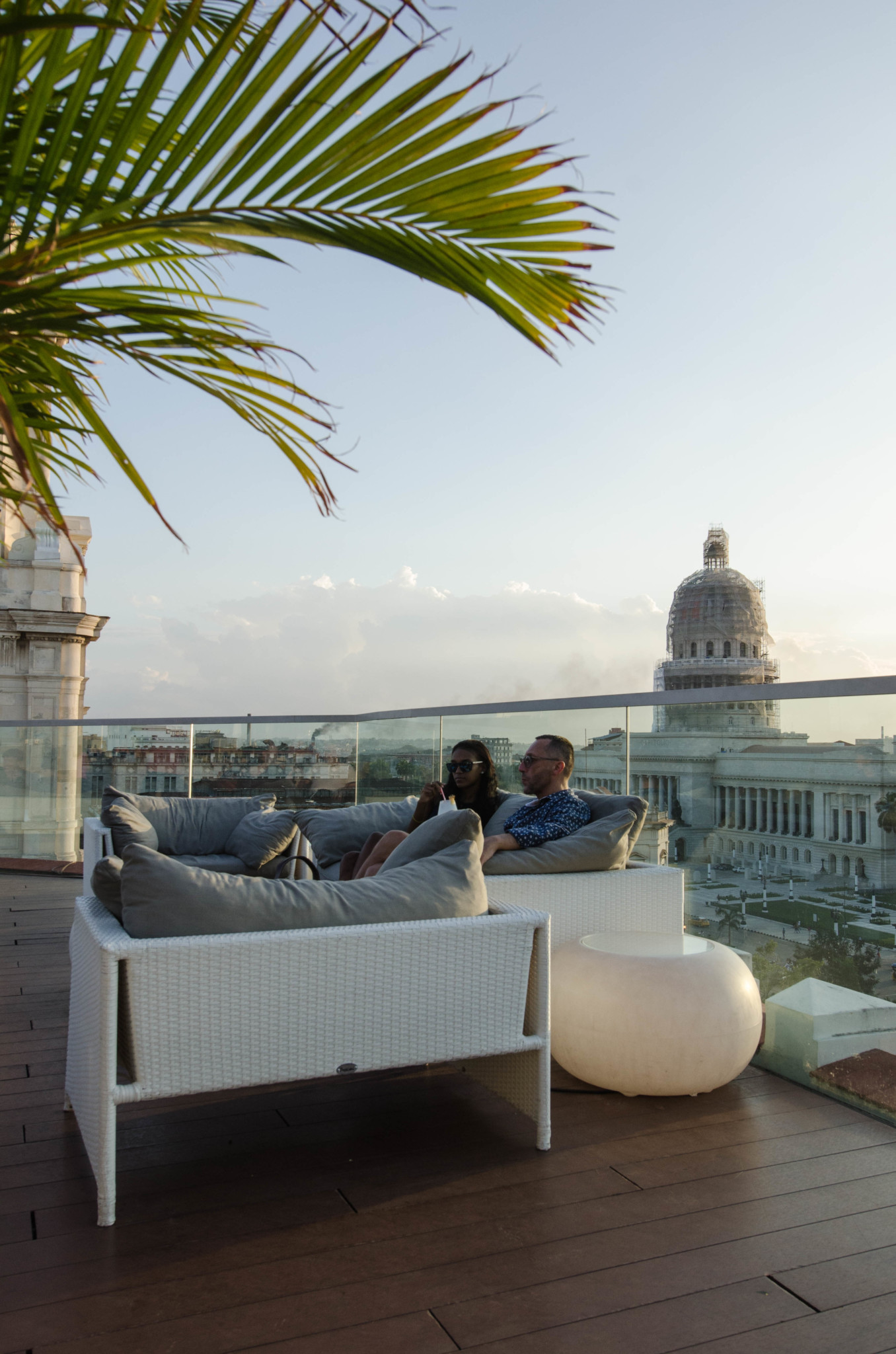 Dachterrasse auf dem Kempinski Hotel in Havanna Kuba