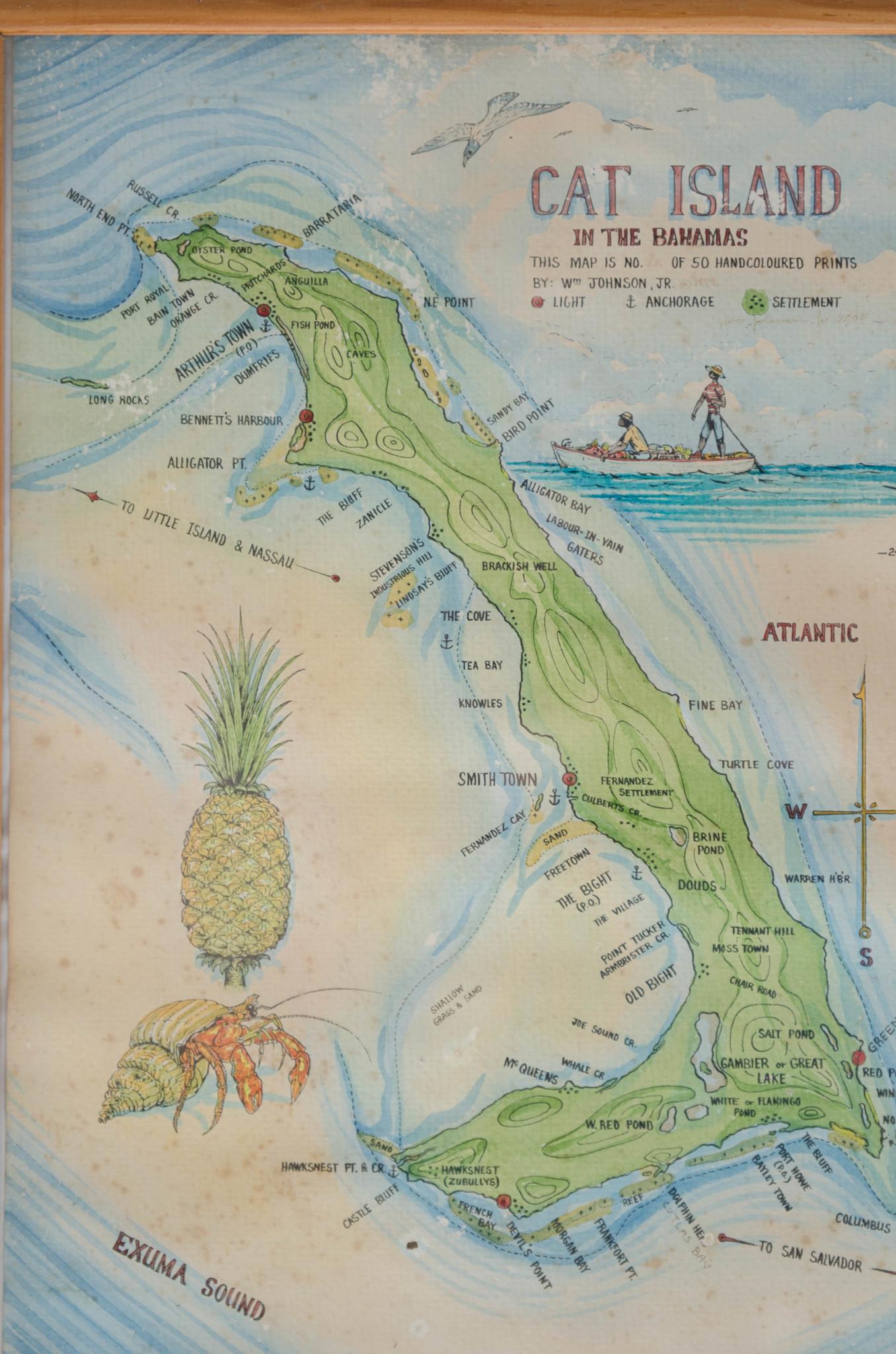 Karte Cat Island Bahamas