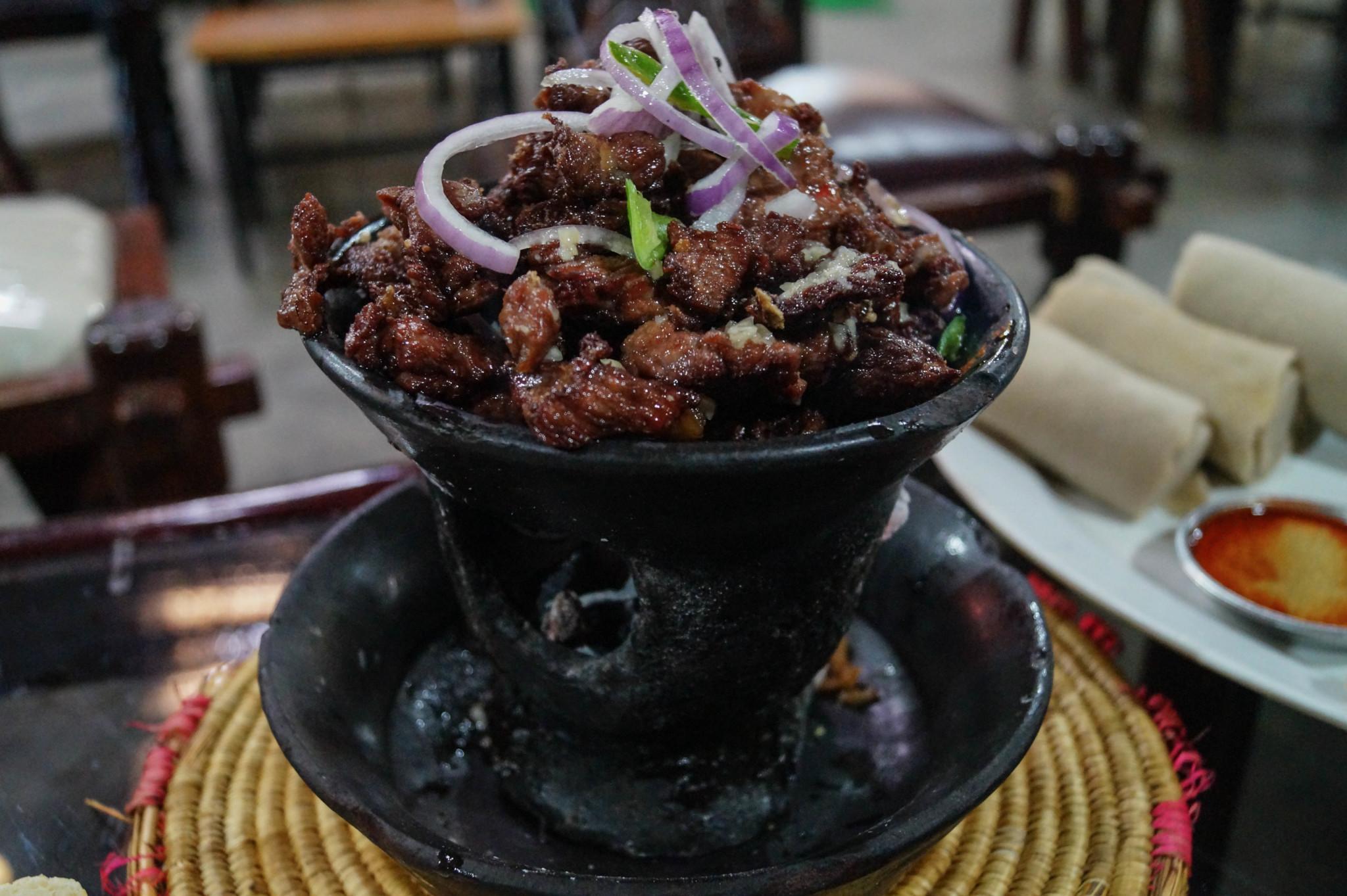 Kitfo äthiopisches Essen