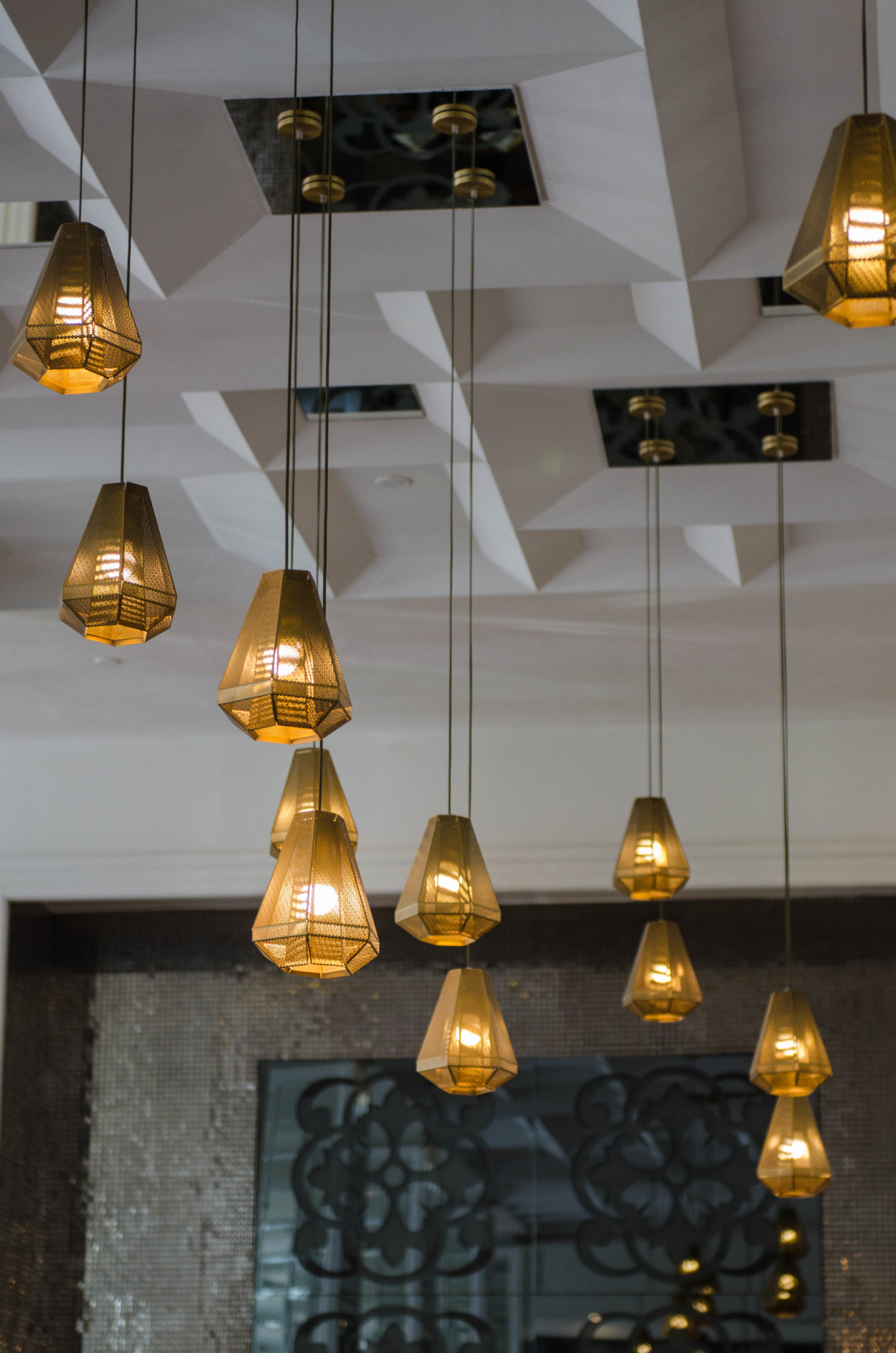 Lampen im Restaurant vom Kempinski Hotel Havanna