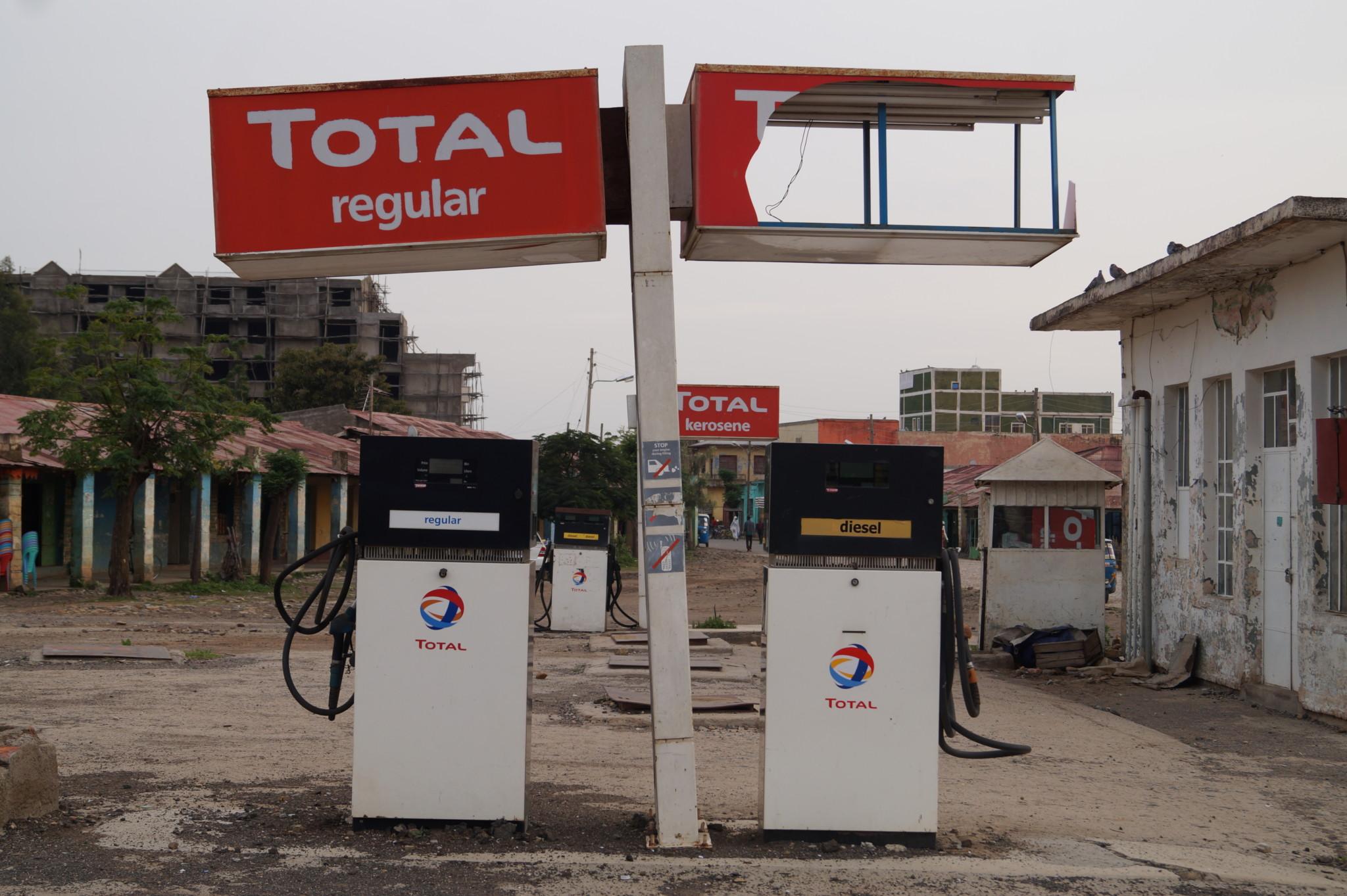 Tankstelle in Äthiopien