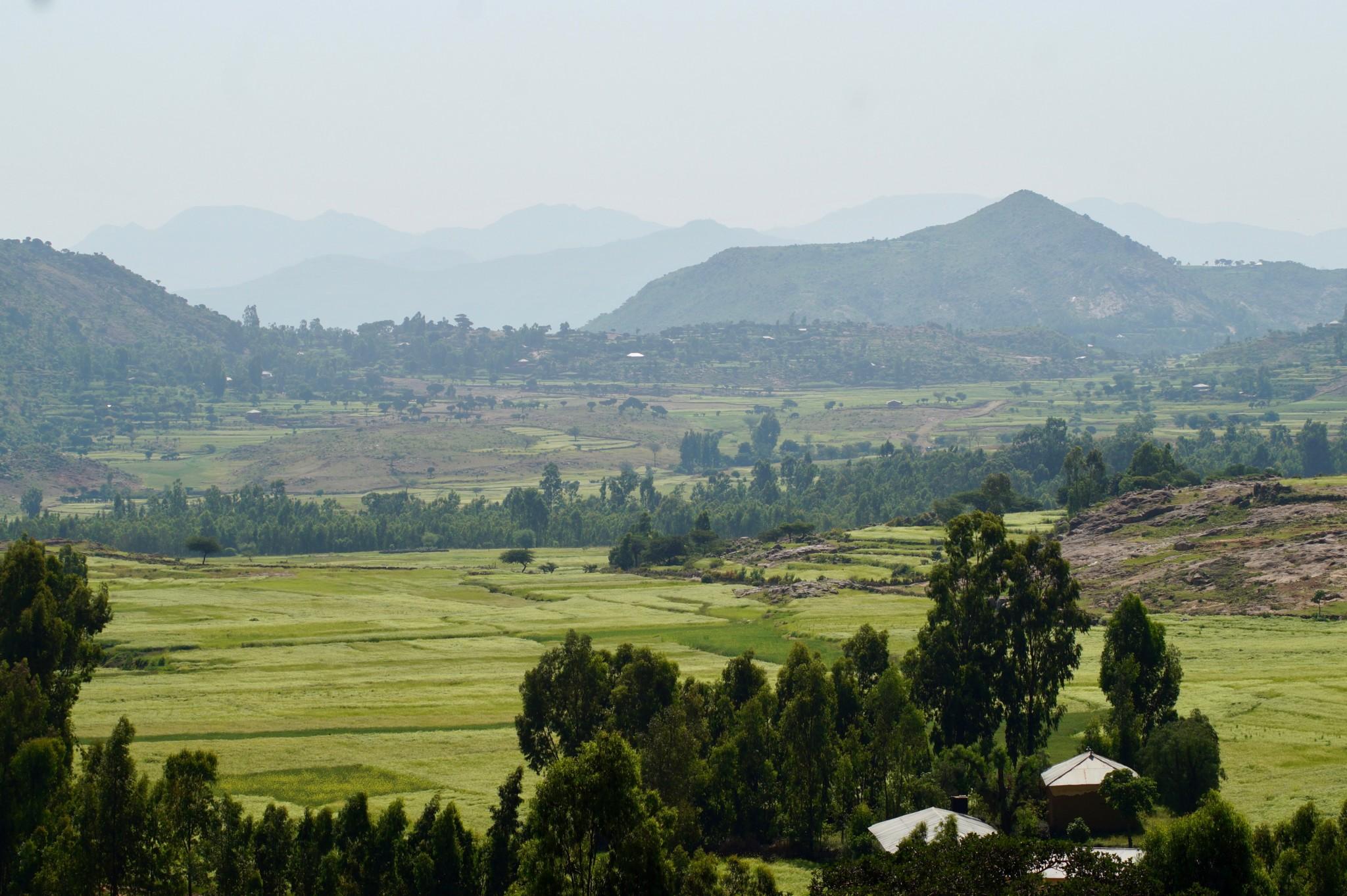 Schöne Aussicht im Simien Nationalpark in Äthiopien