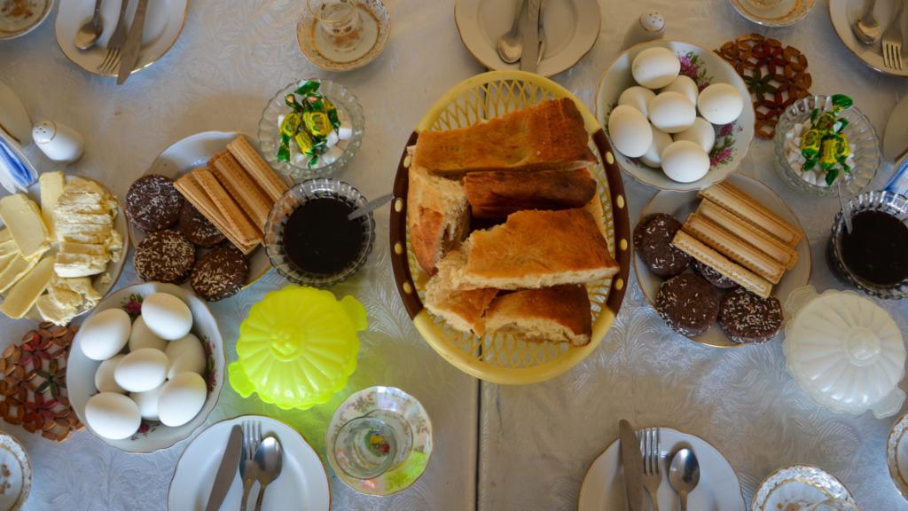 Das traditionelle Frühstück in Aserbaidschan