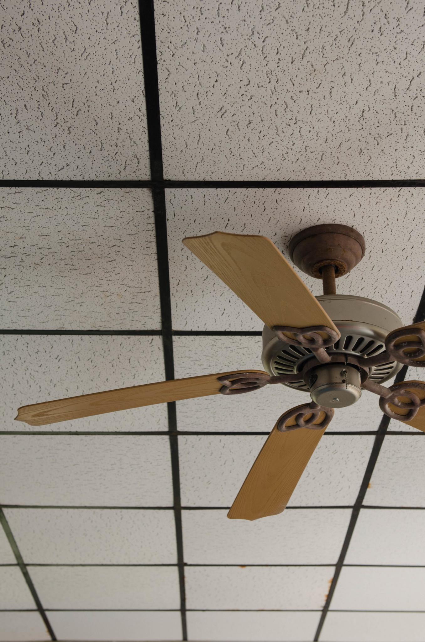 Ein Ventilator im Aufenthaltsraum