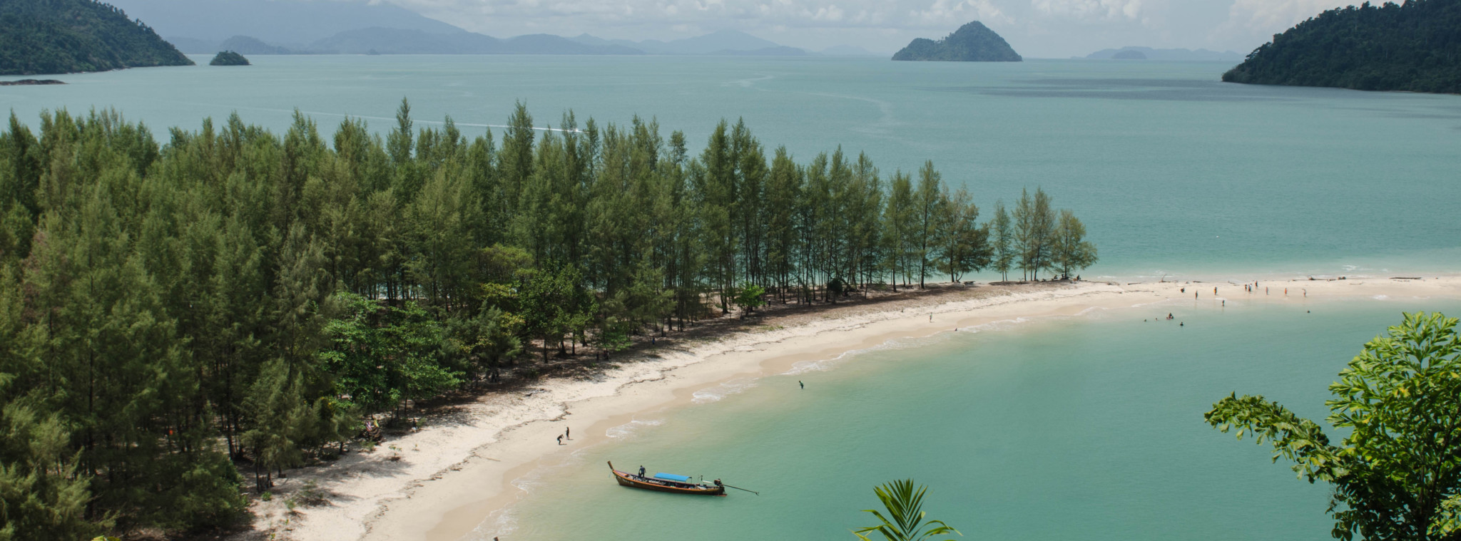 Strand in Ranong in Thailand