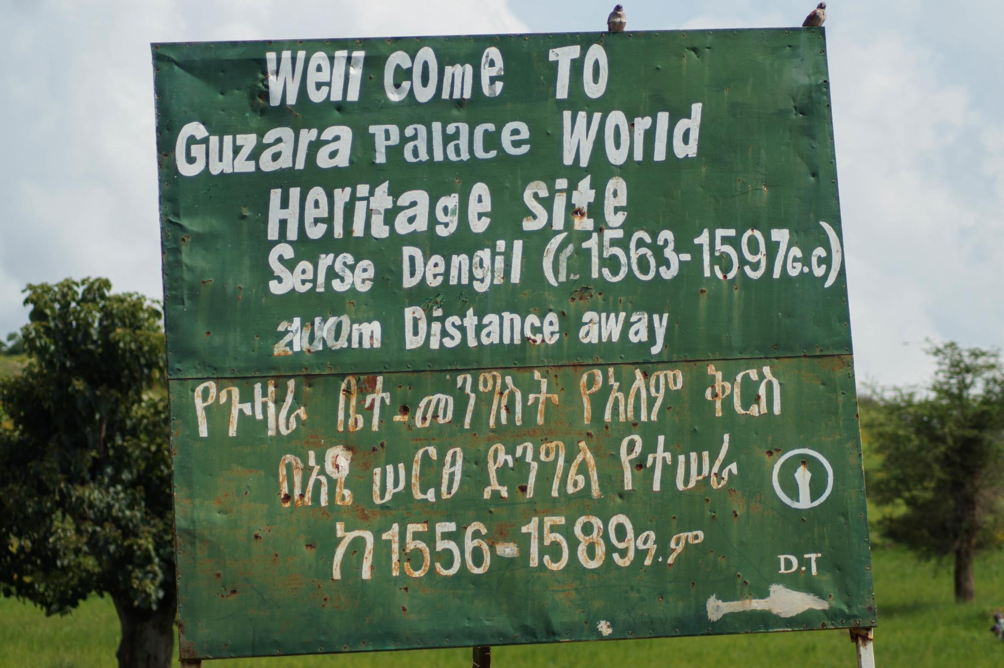 Die Buchstaben der Sprache in Äthiopien unterscheiden sich von unseren