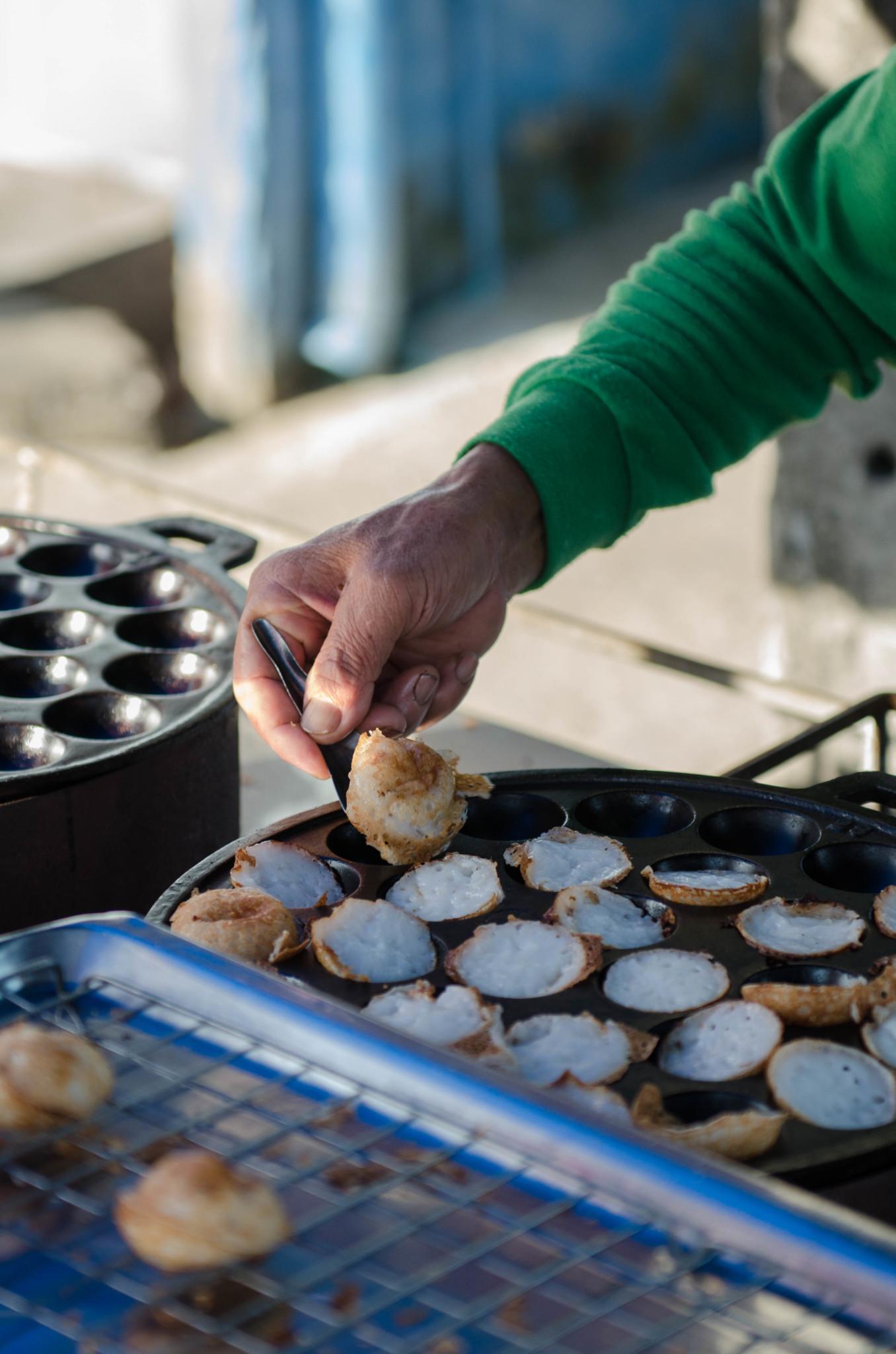 Frühstück auf dem Pak Nam Markt in Chumphon