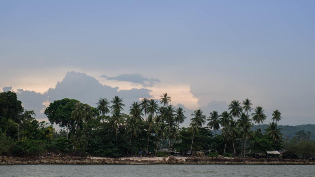 Chumphon in Thailand mit Sonnenuntergang