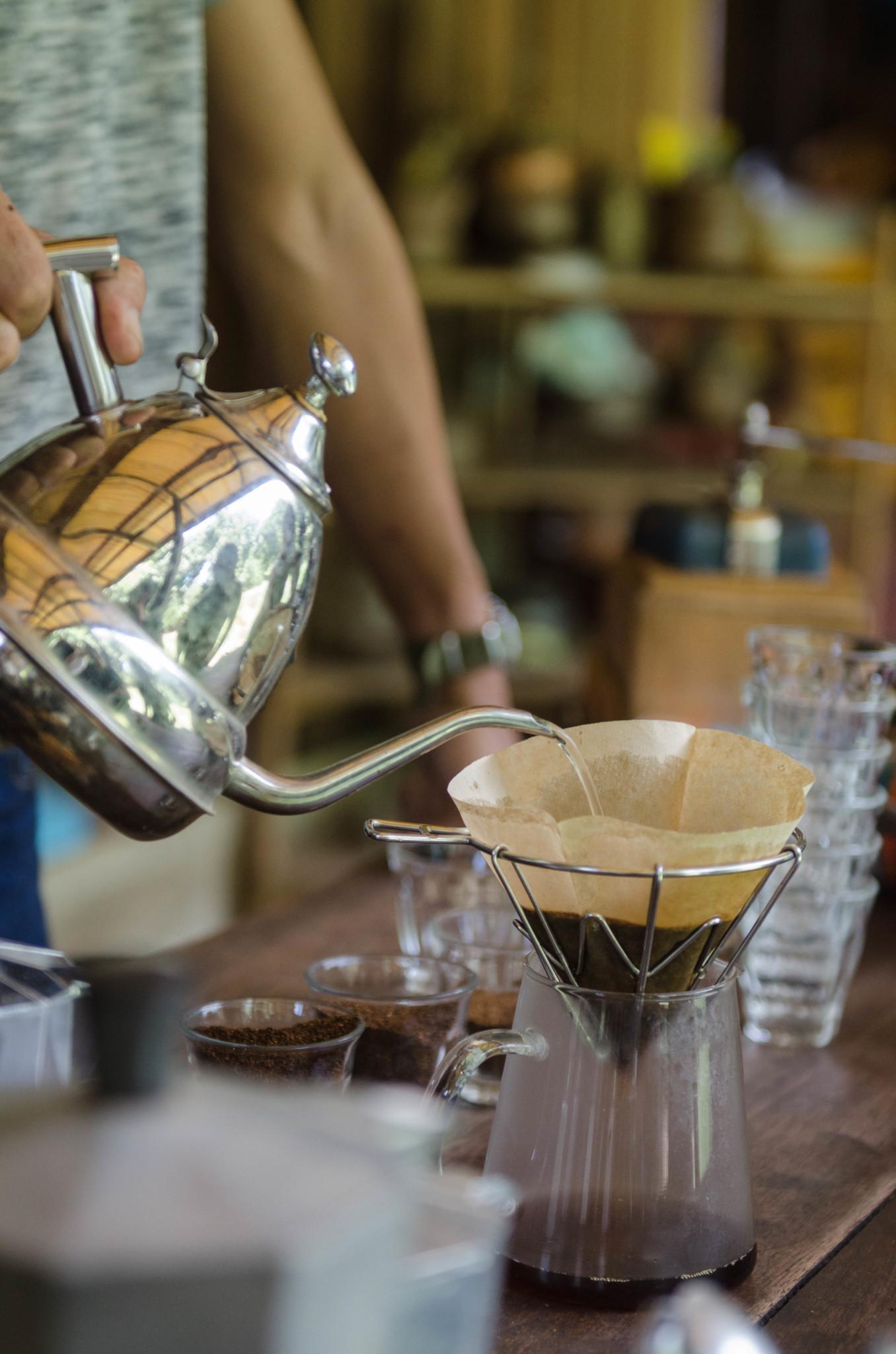 Handgefilterter Kaffee im Gong Valley