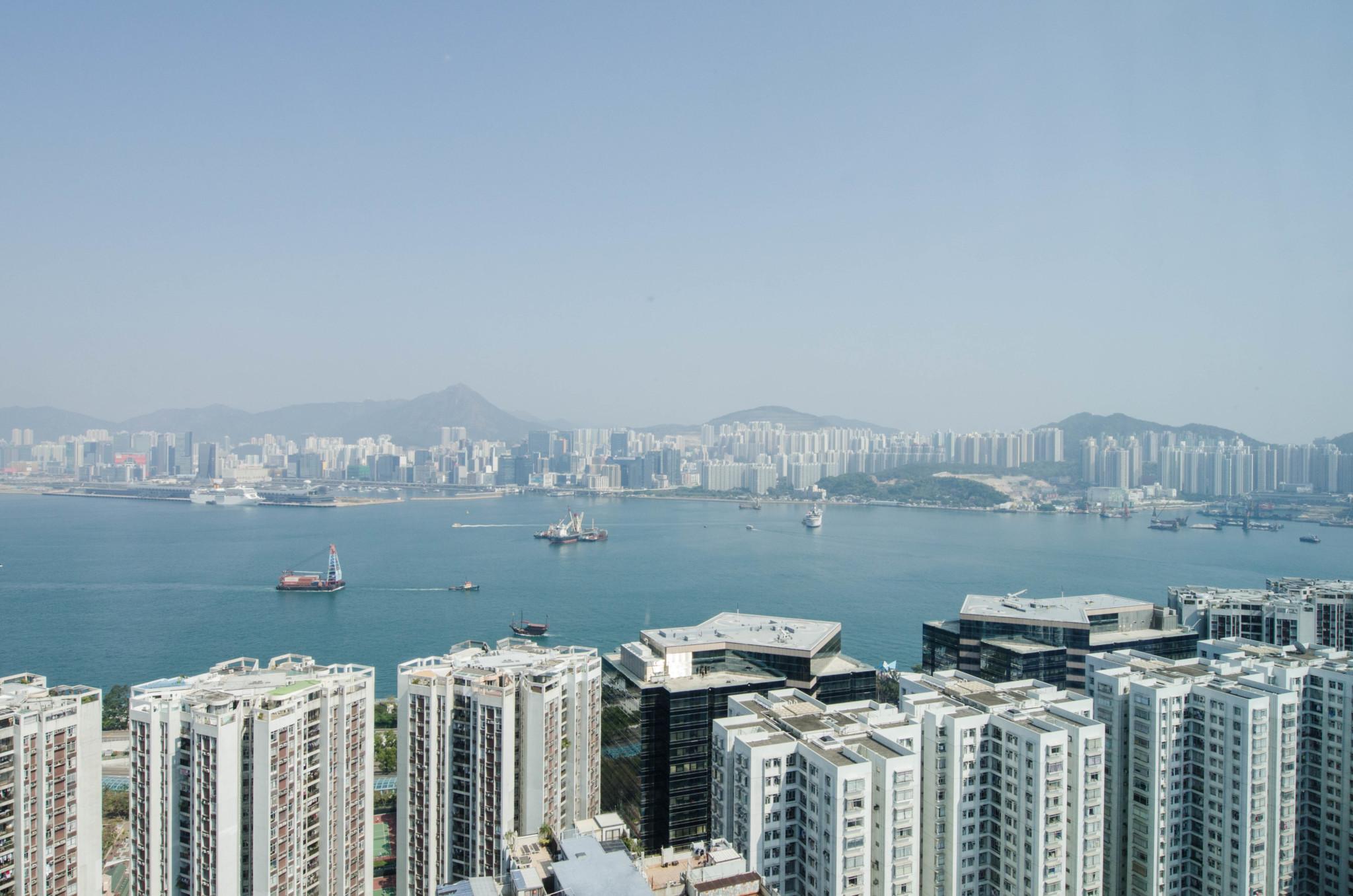 Ausblick vom Hotel East Hongkong