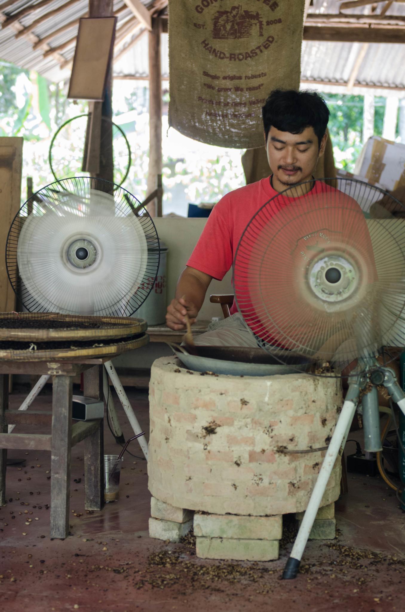 Kaffeeröstung im Gong Valley