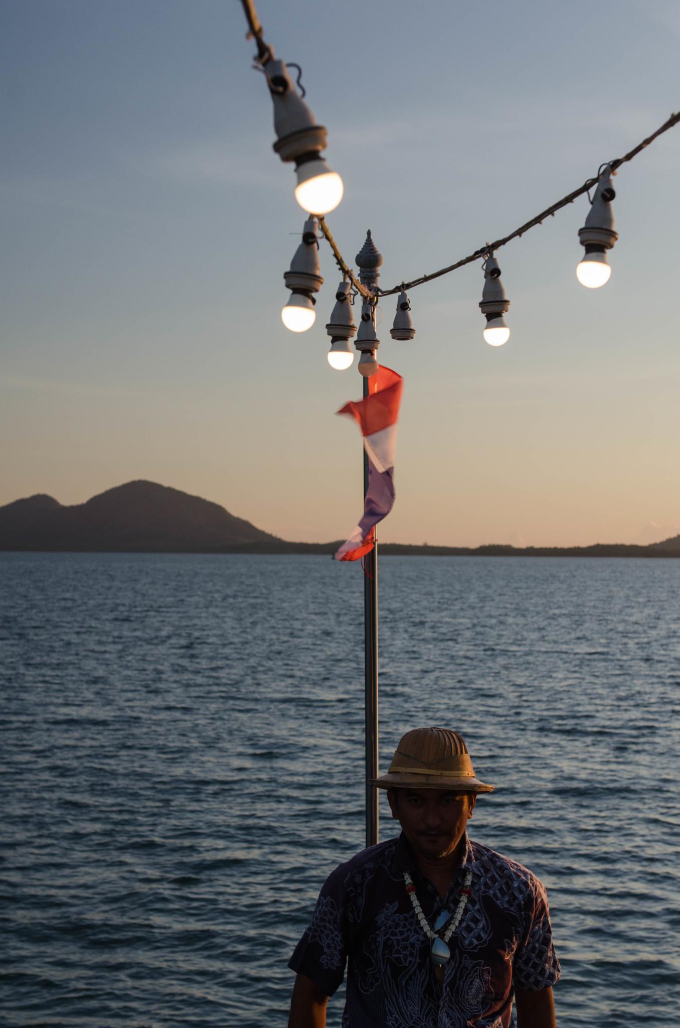 Sonnenuntergang auf dem Schiff von Ranong nach Myanmar
