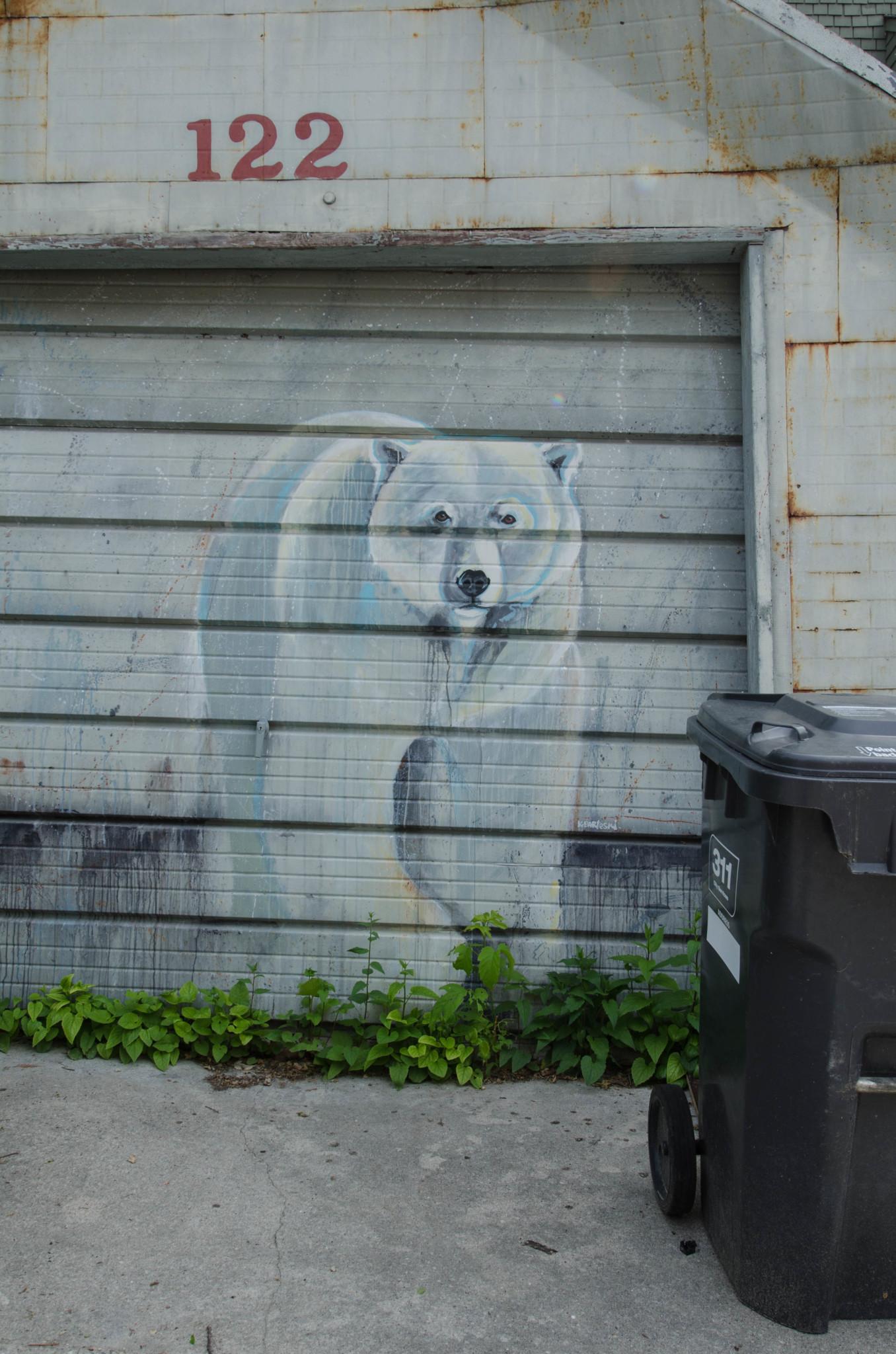 Streetart sieht man in Winnipeg fast überall