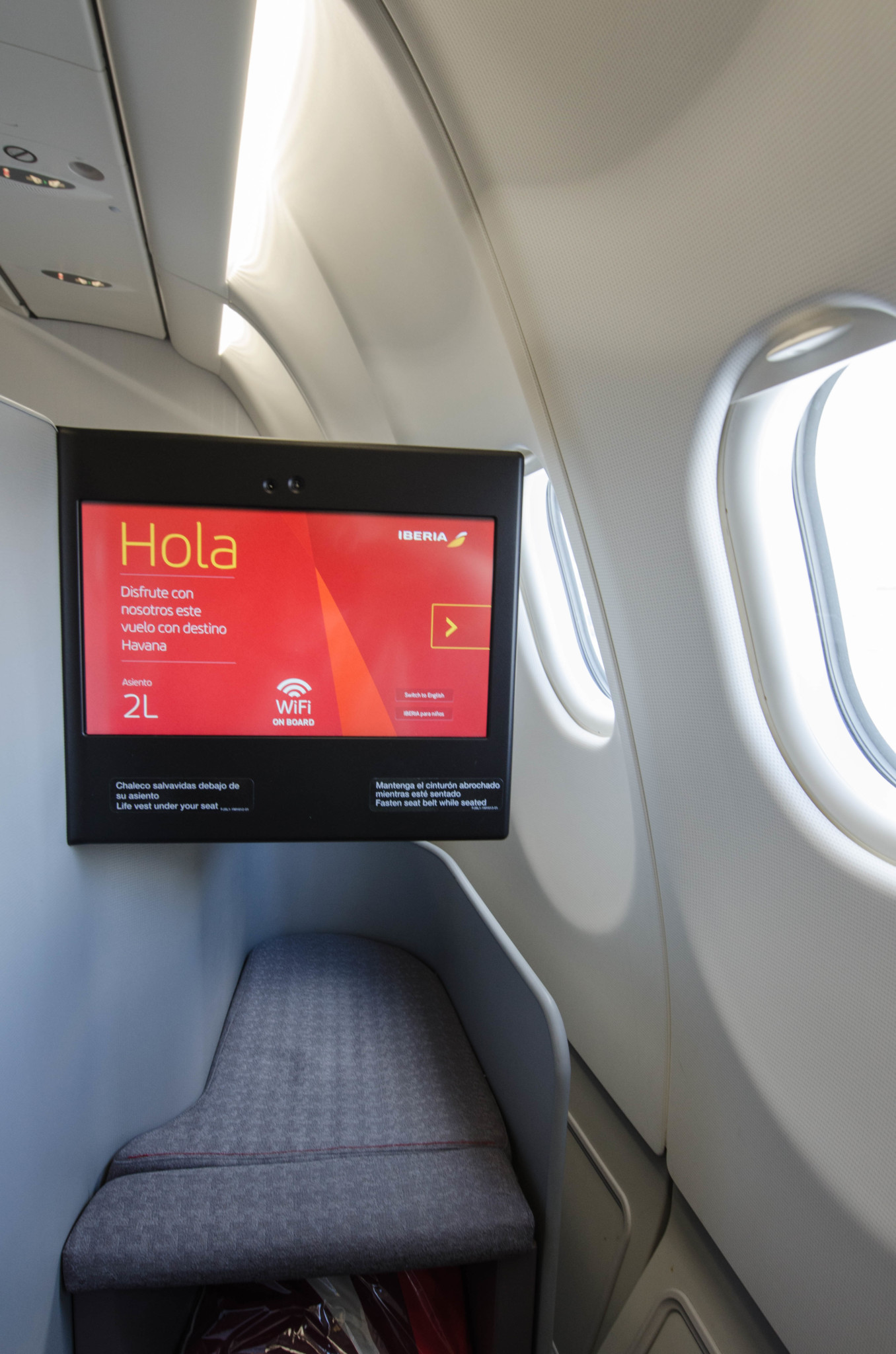Sitze in der Iberia Business Class