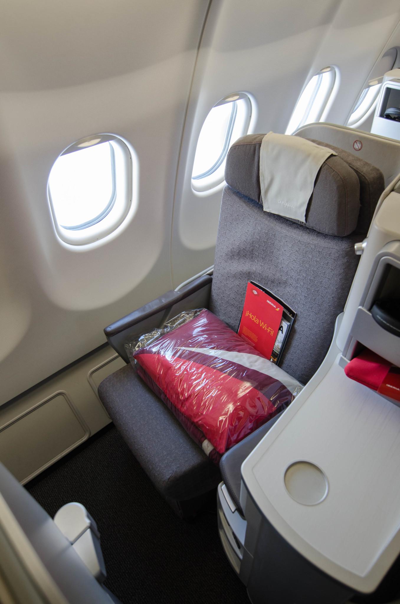 Modernes Design in den Flugzeugen von Iberia