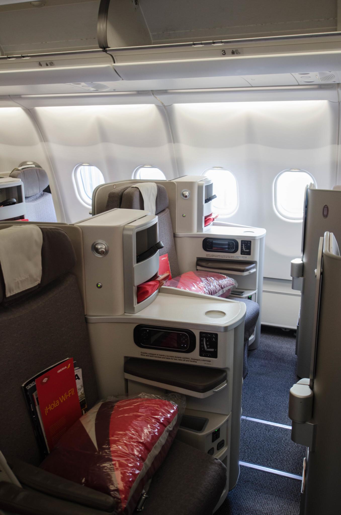Kabine auf dem Flug nach Havanna