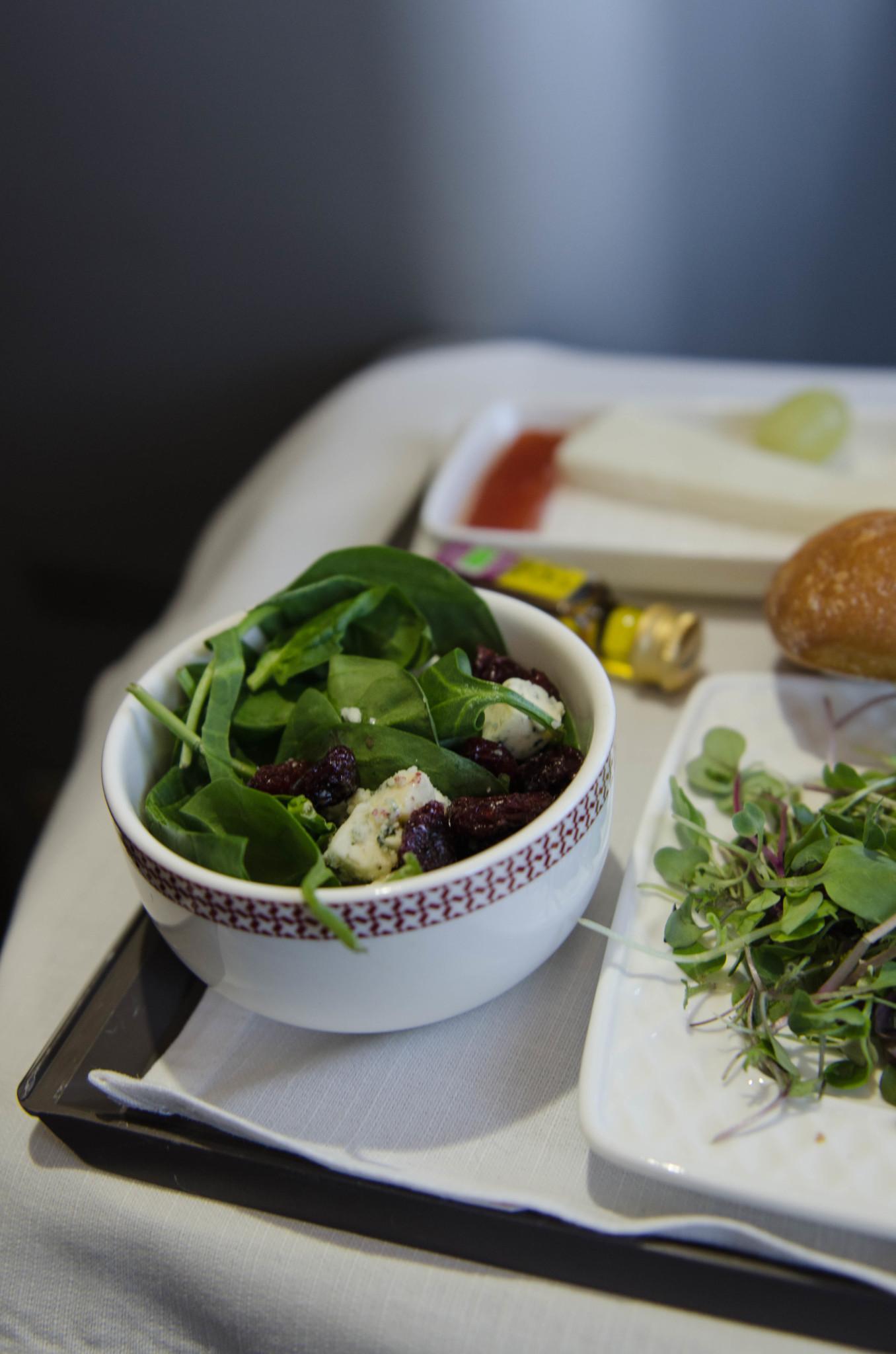 Salat im Flug nach Havanna