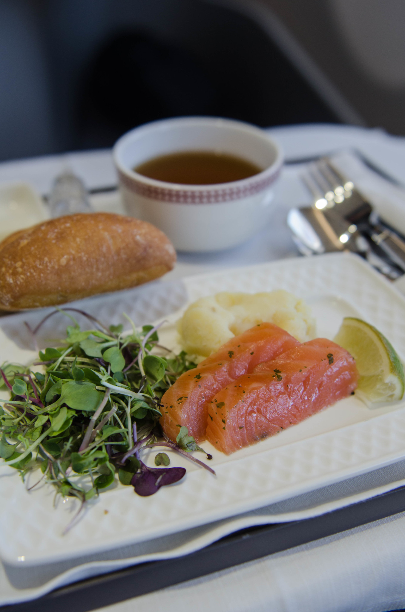 Lachs in der Iberia Business Class