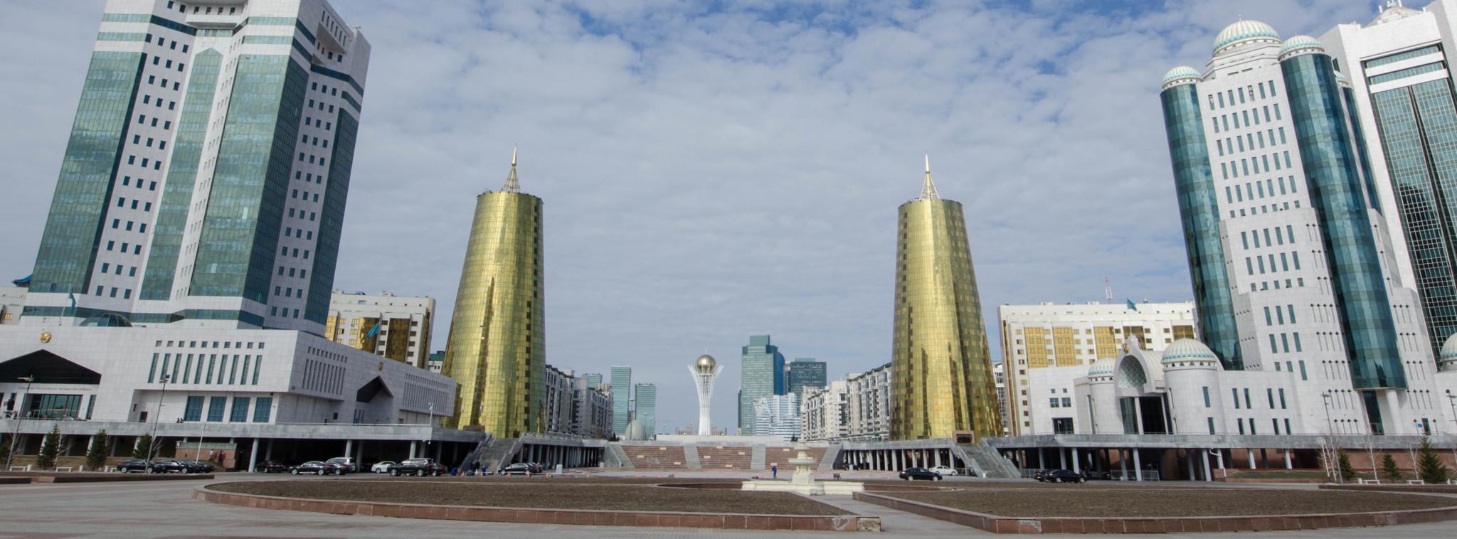 Bierdosen-Gebäude in Astana