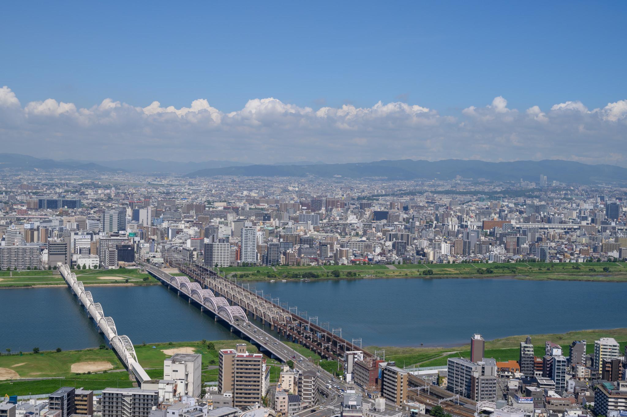 Osaka von oben vom Umeda Sky Building