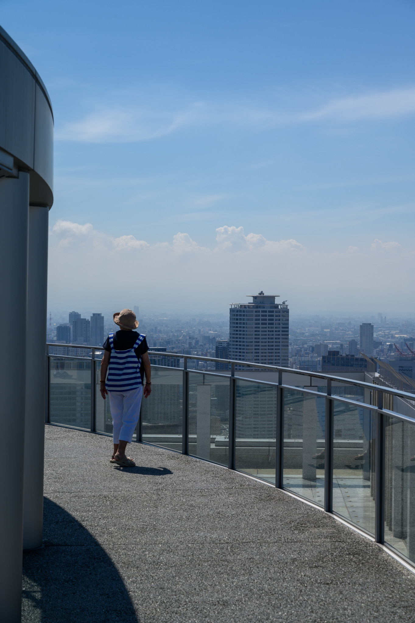 Aussichtsplattform des Umeda Sky Building in Osaka Japan