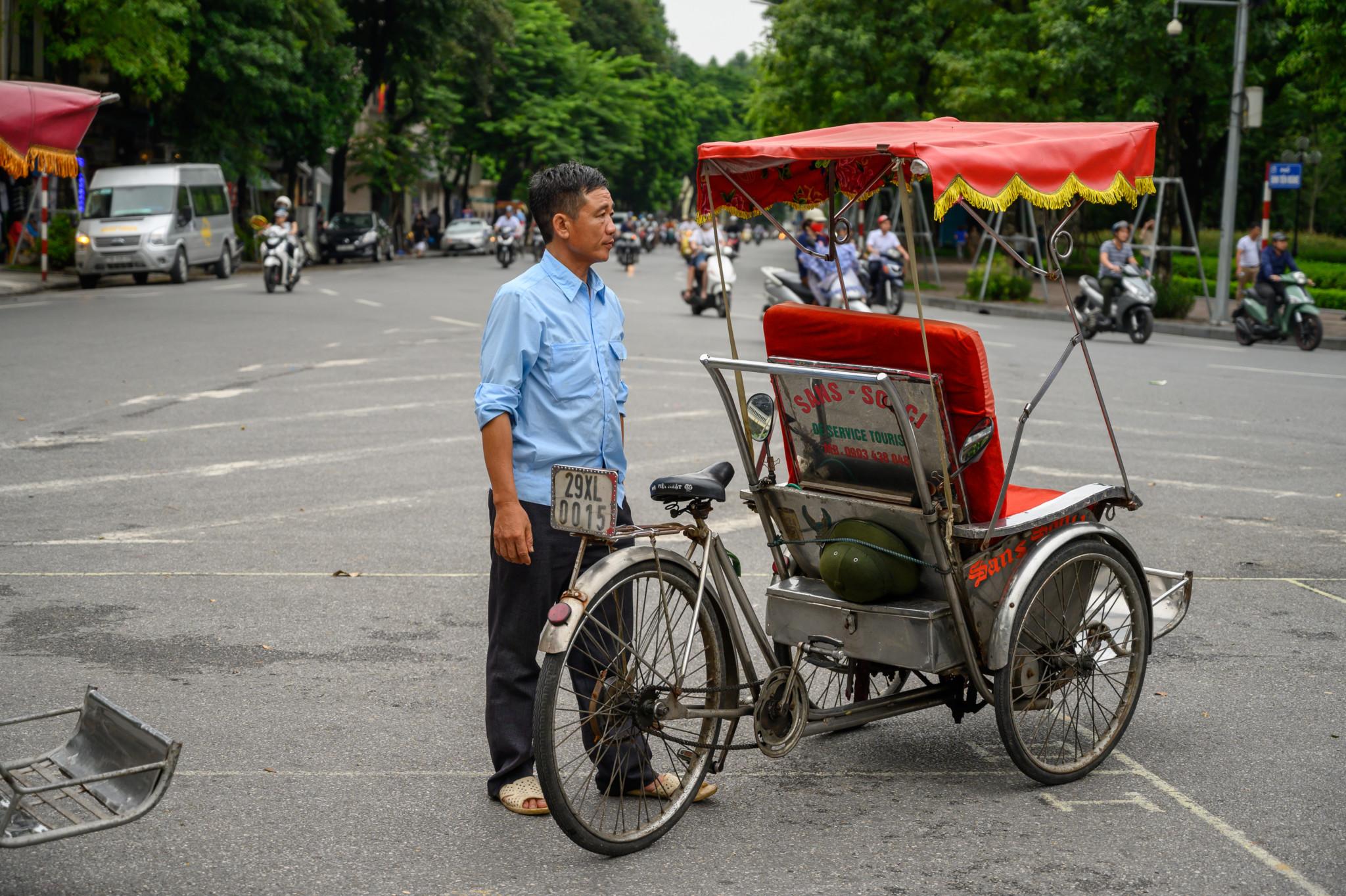 Tour mit der Fahrrad-Rikscha durch Hanoi