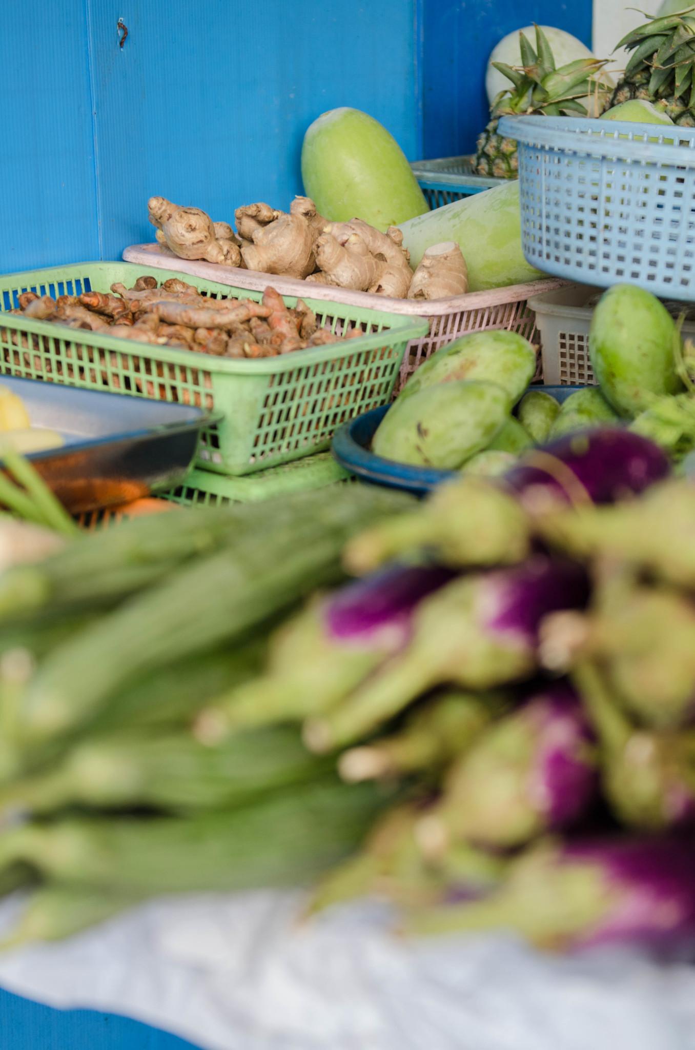 Gemüse auf dem Pak Nam Markt in Chumphon, Thailand