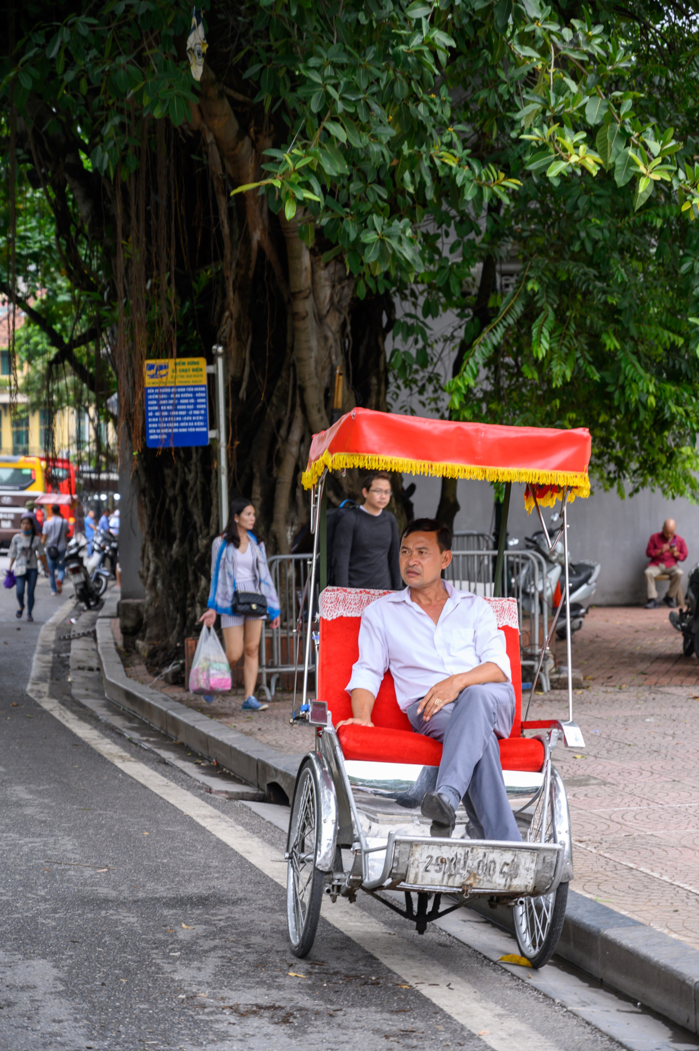 Fahrradrikscha in der Stadt Hanoi