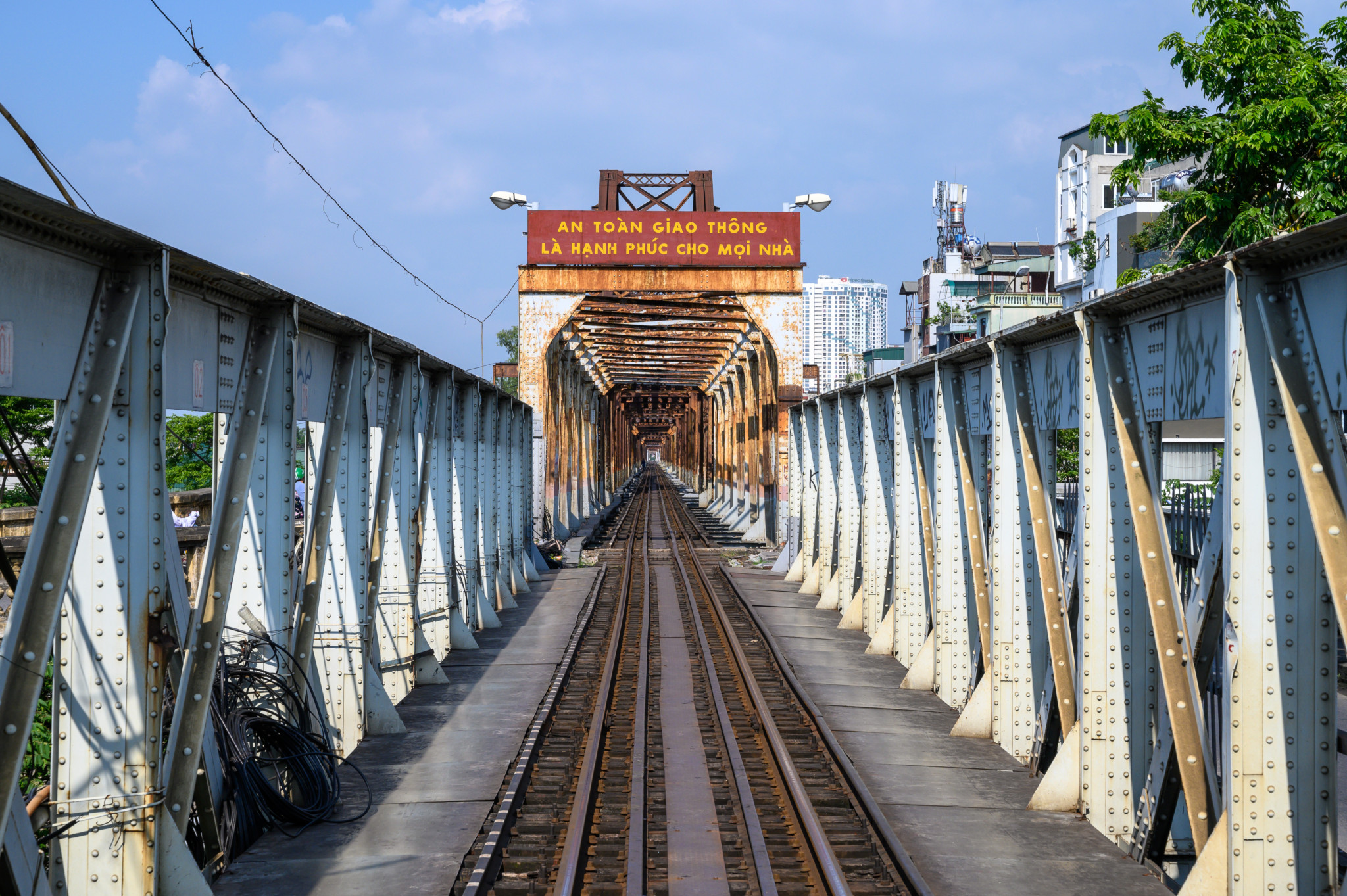 Long Bien Brücke in Hanoi, Vietnam