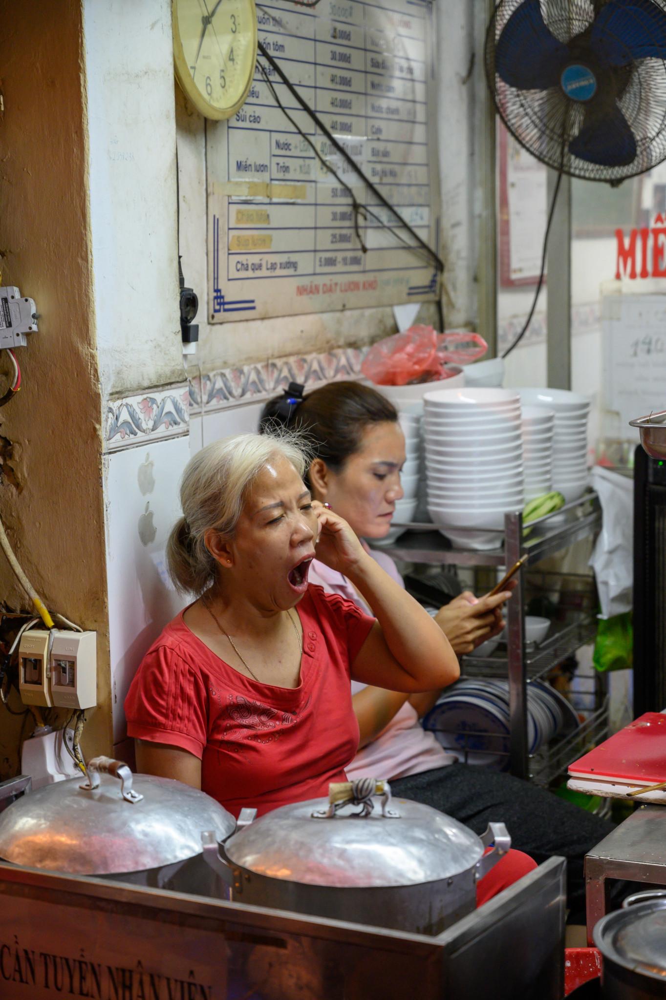 Eine Küche in Vietnam