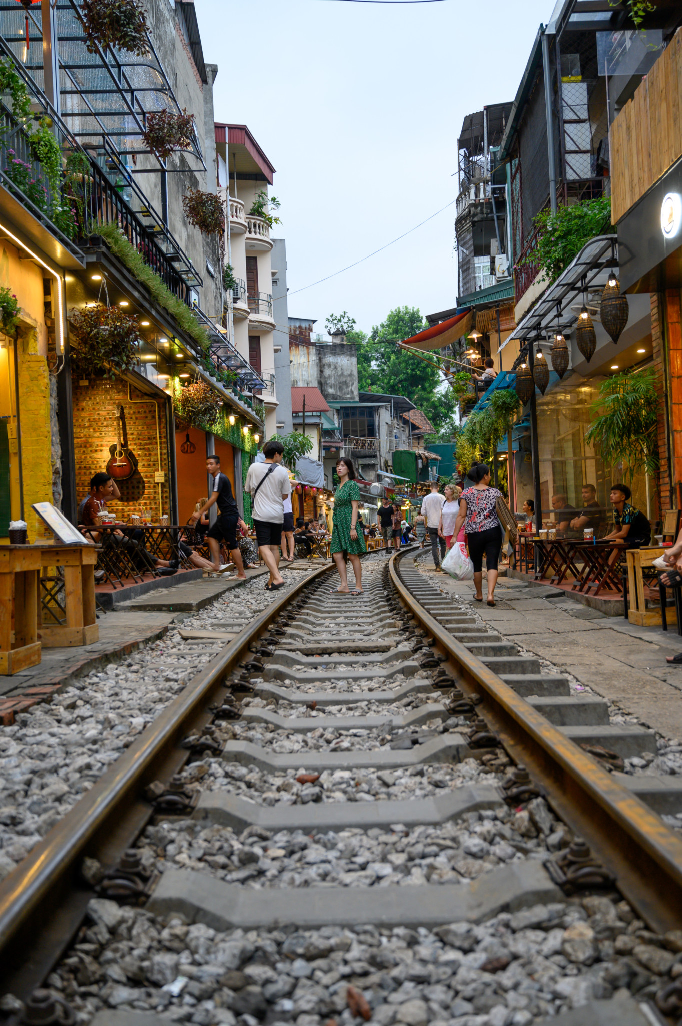 Train Street in Hanoi in Vietnam