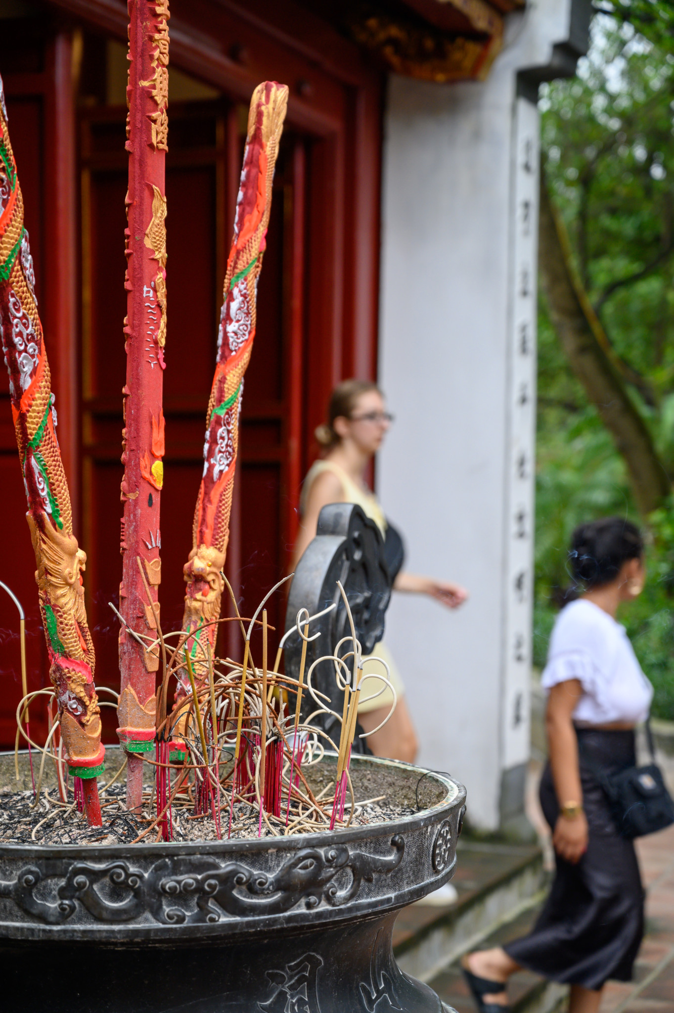 Der Tempel des Jadeberges in Hanoi in Vietnam