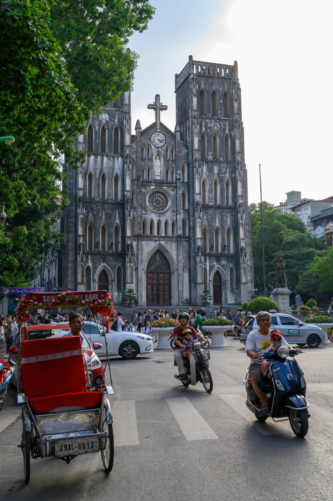 Die Joseph Kathedrale im Old Quarter Hanoi