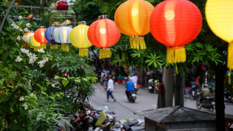 Train Street in Hanoi in Vietnam