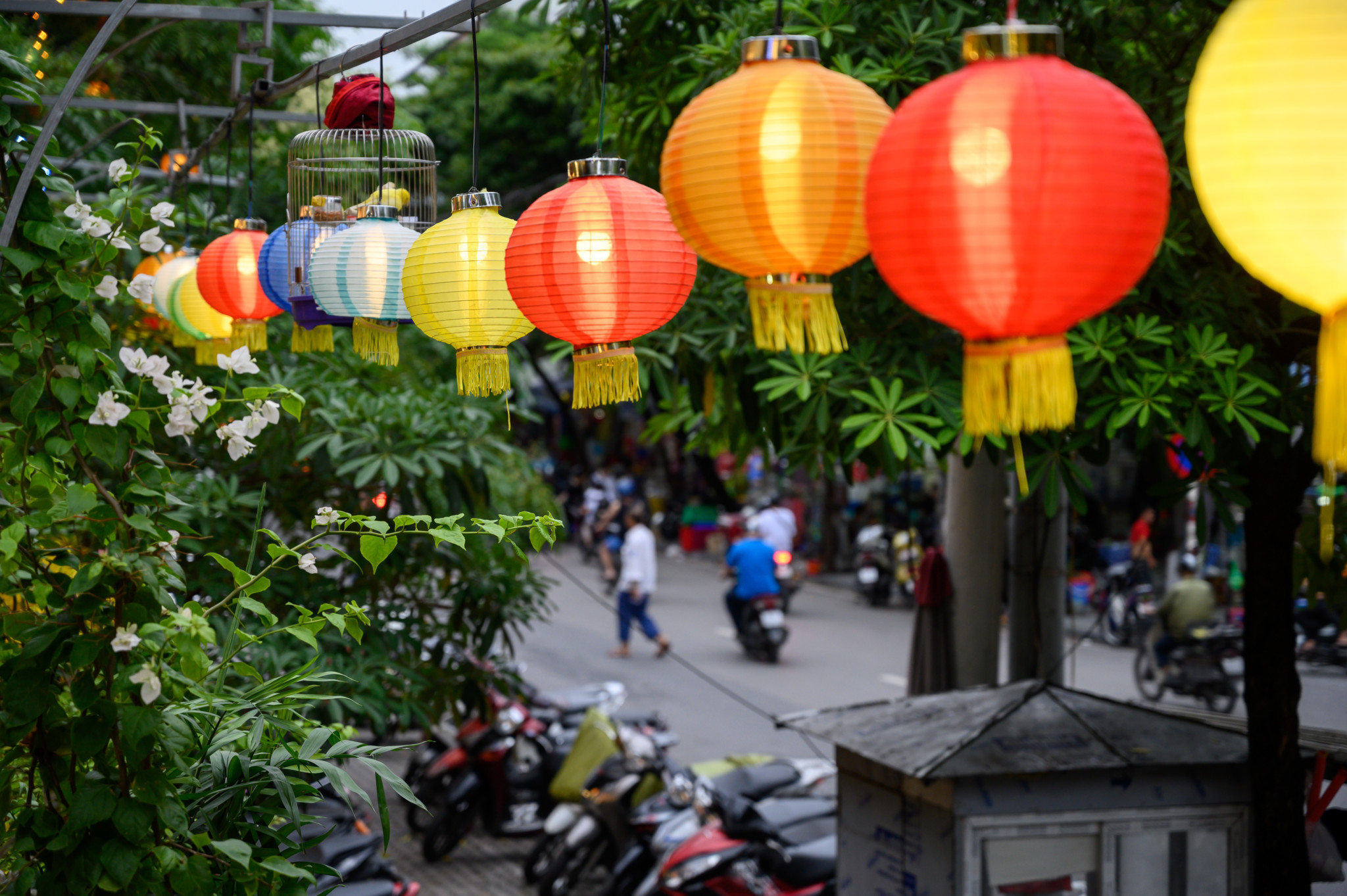 Old Quarter von Hanoi in Vietnam