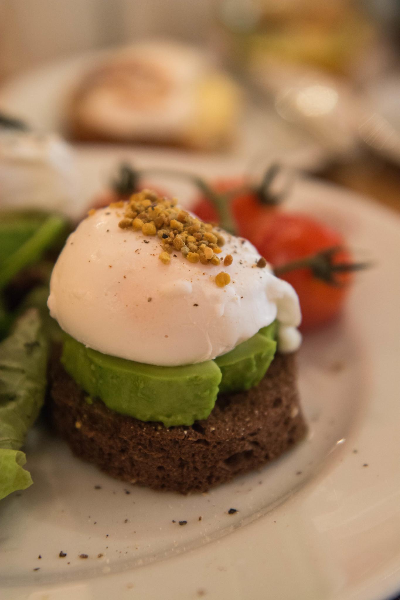 Avocado und Ei im Mandarin Oriental in London