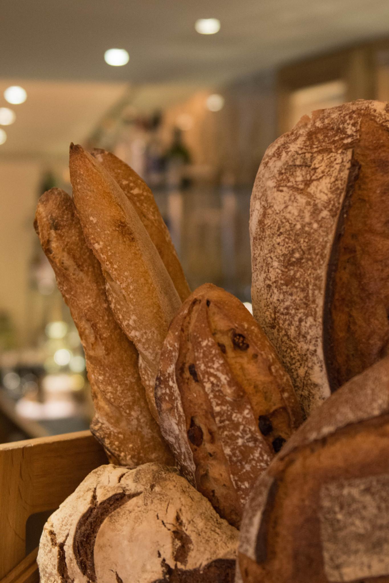 Brot am Frühstücksbuffet in London
