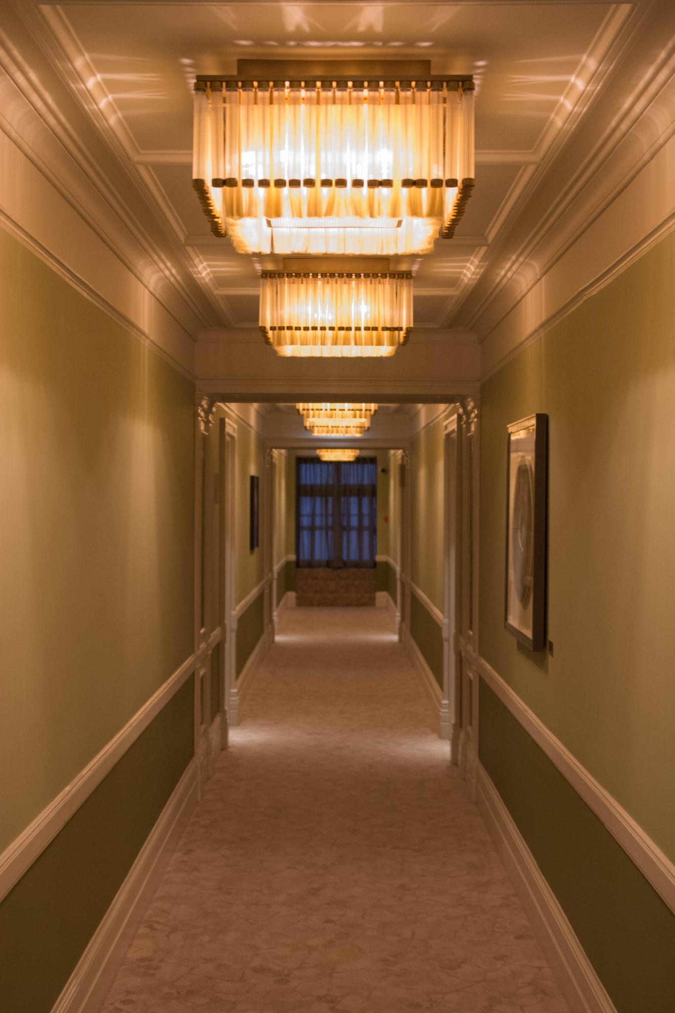 Gang zu den Zimmern im Mandarin Oriental London