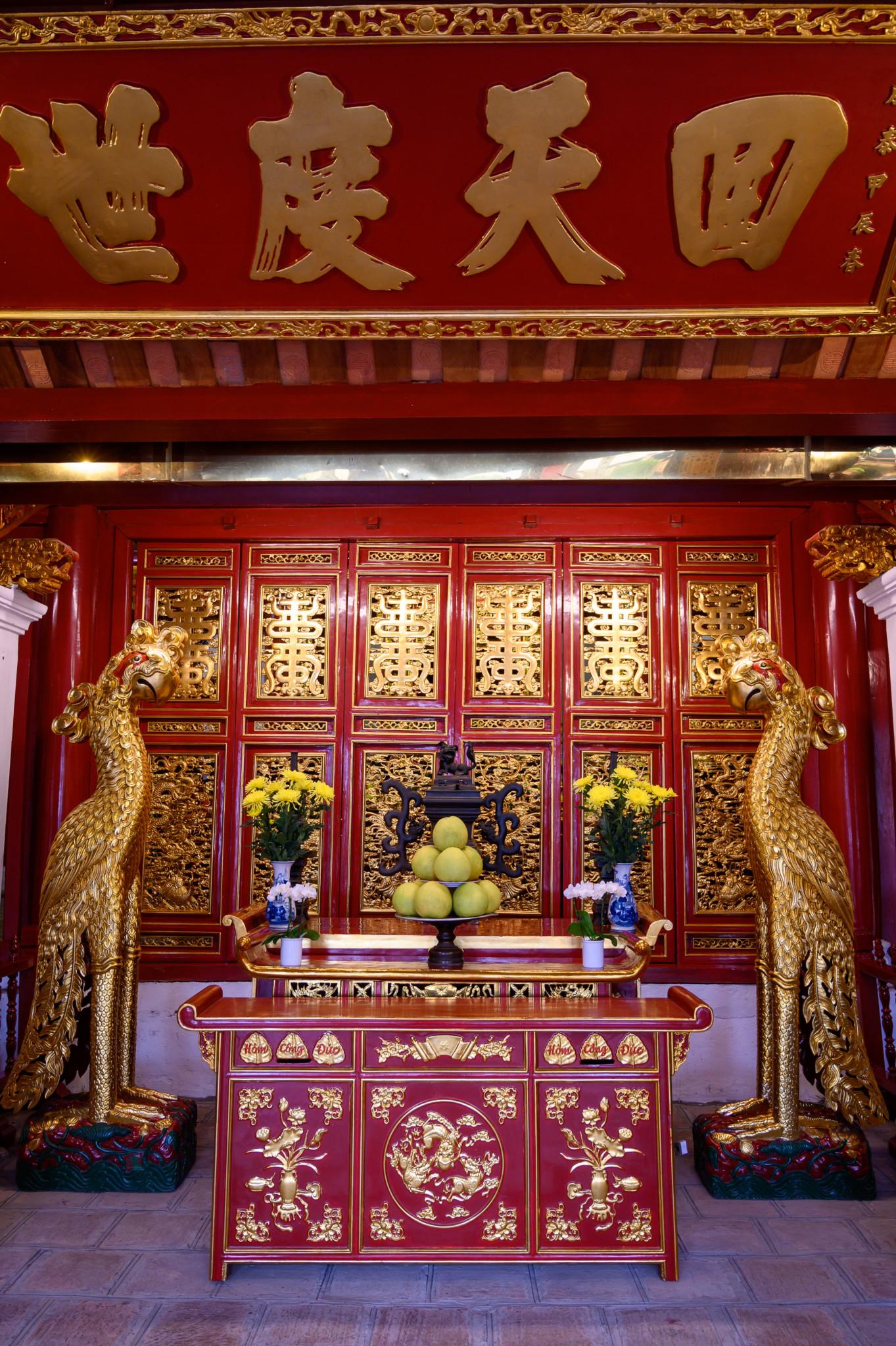 Der Tempel des Jadebergs in Hanoi von innen