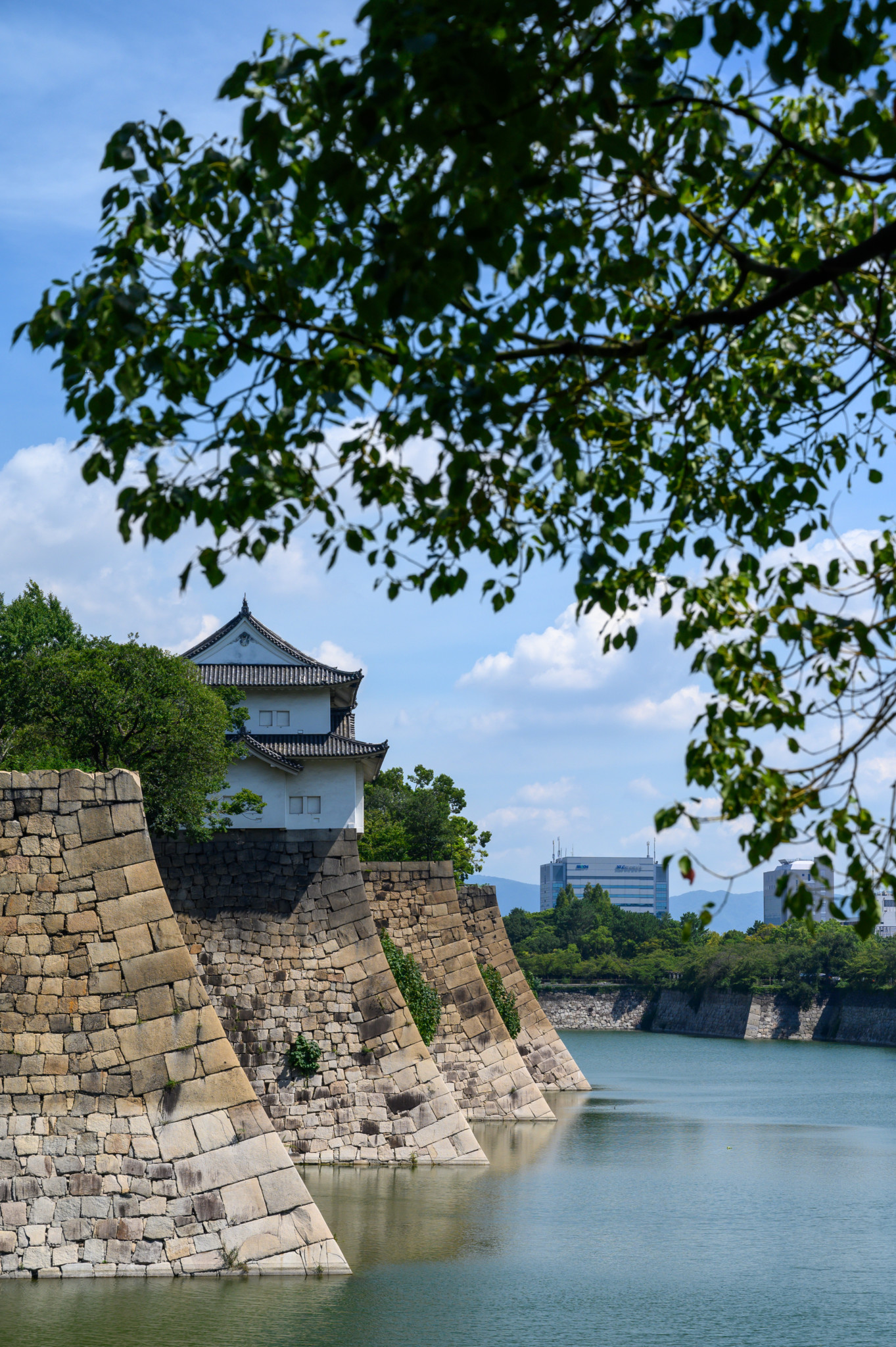 Das Osaka Castle von außen