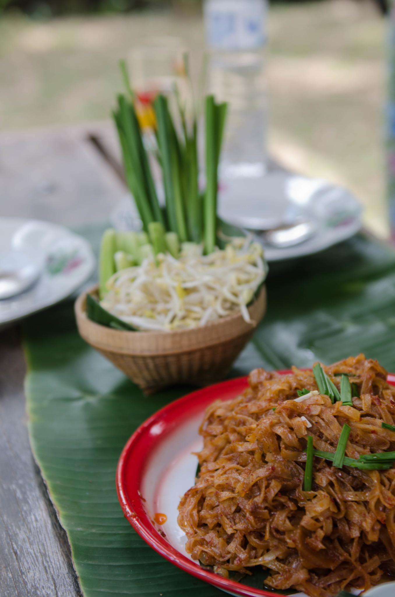 Pad Thai beim Kochkurs in Thailand, Chumphon