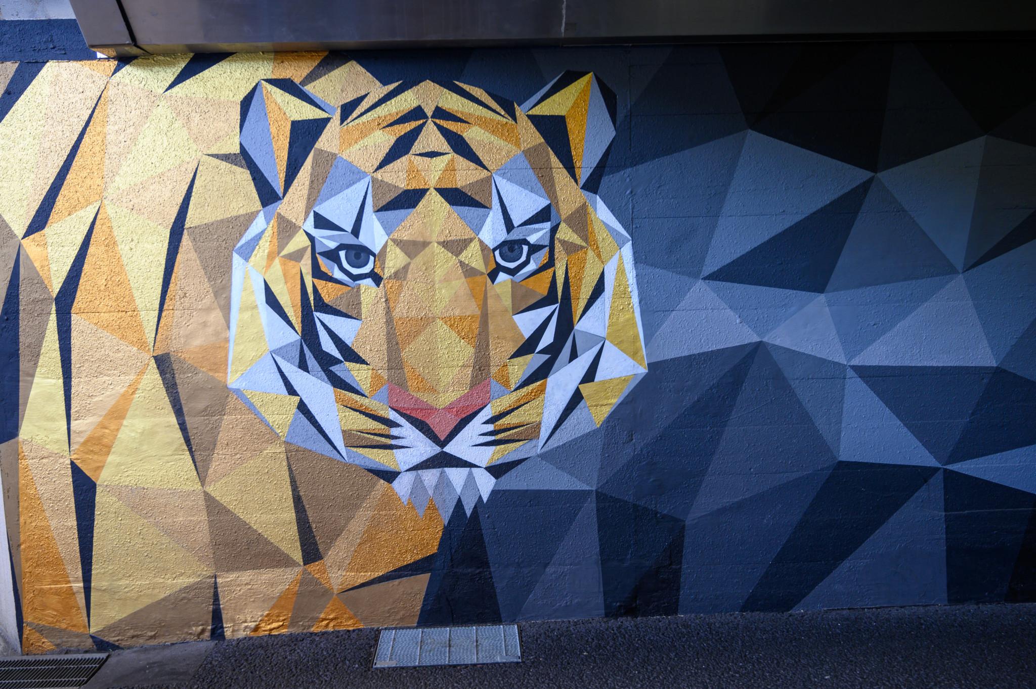 Streetart in Osaka in Japan