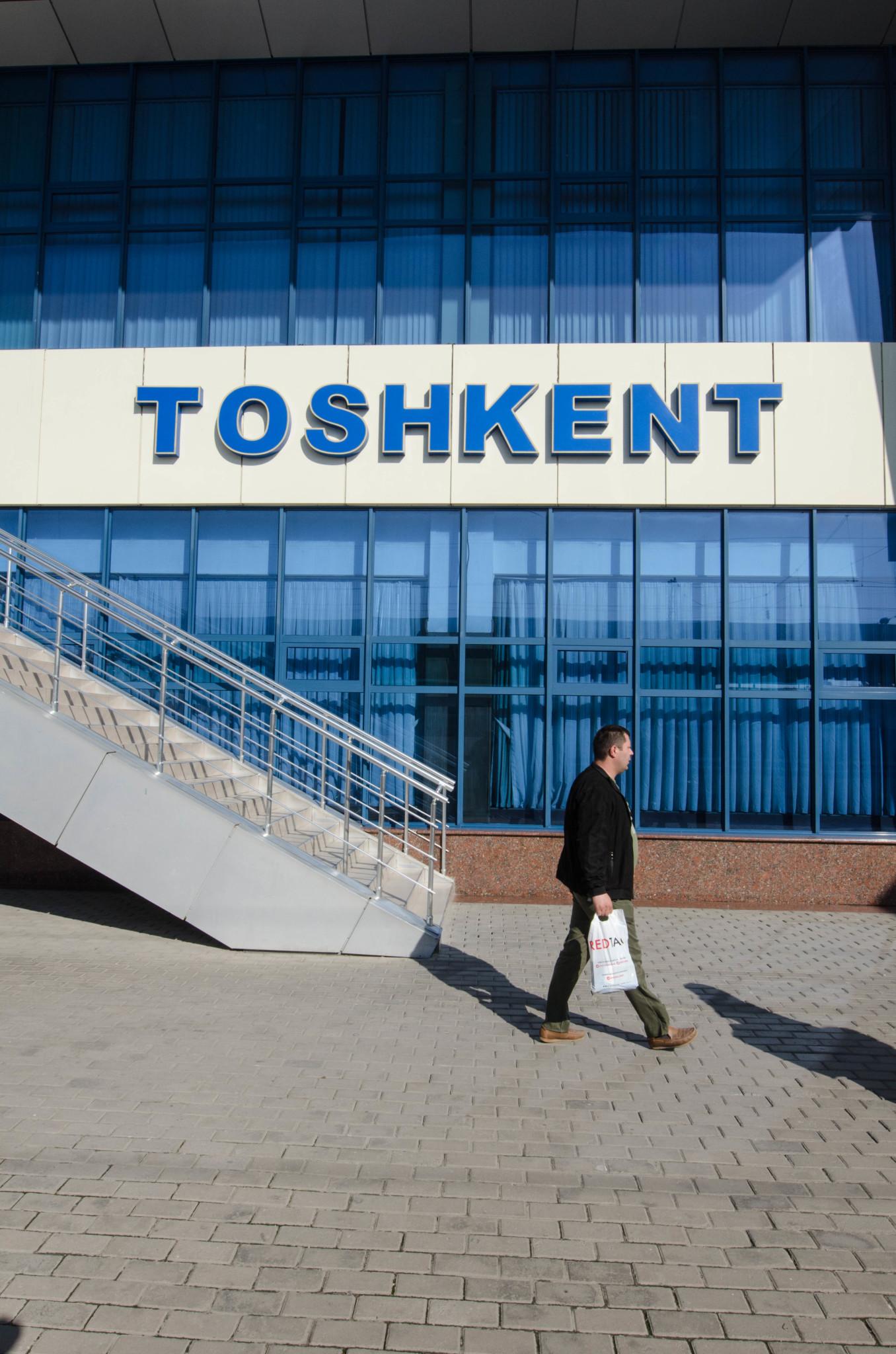 Der Schriftzug von Taschkent ist markant
