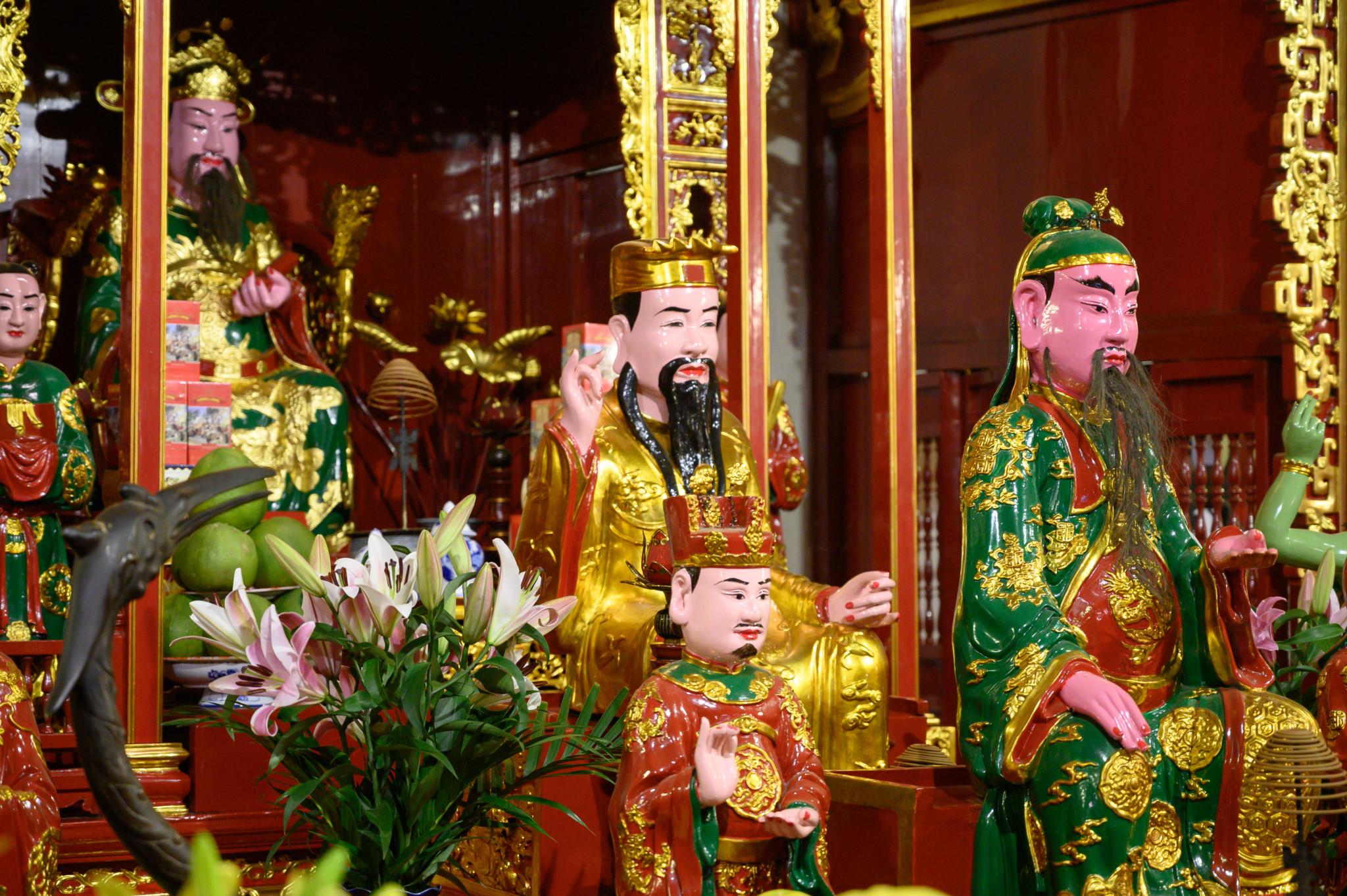 Tempel des Jade Berges auf der Insel Ngoc in Hanoi