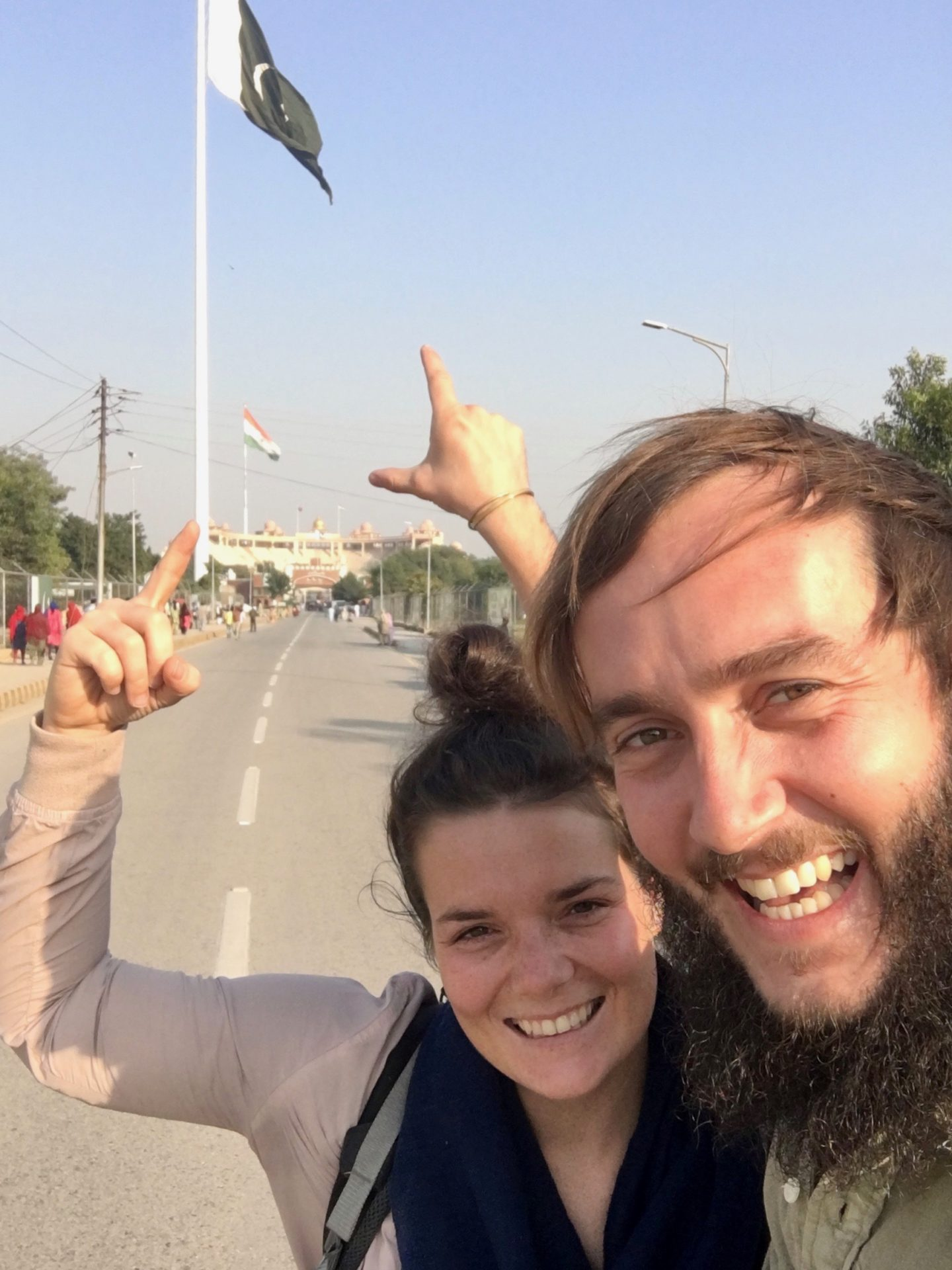 Wagah Border Grenzzeremonie