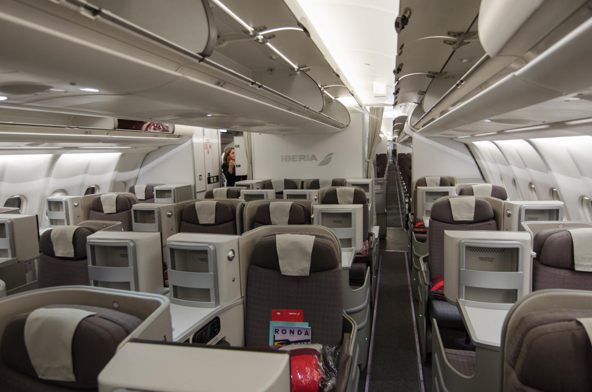 Iberia Business Class im Airbus A330-200 auf Langstrecke